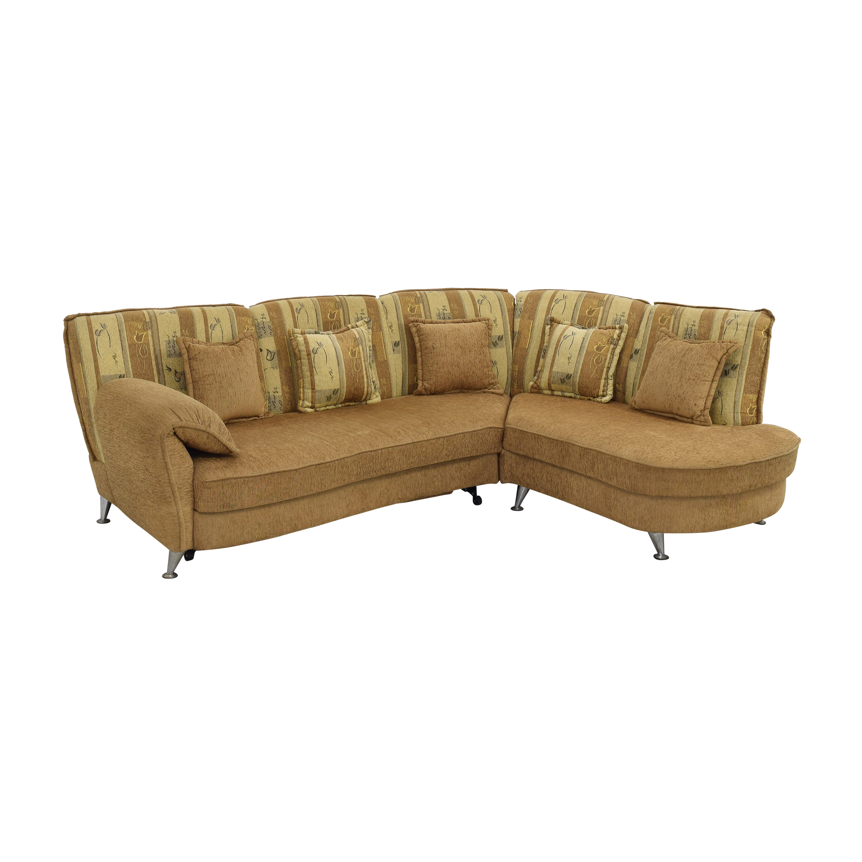 Curved Sectional Sofa with Foldout Bed dimensions