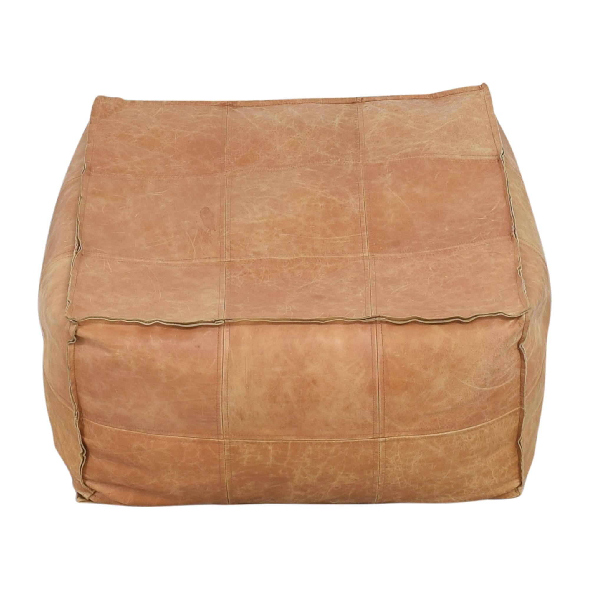 31 Off Cb2 Cb2 Medium Square Leather Ottoman Pouf Chairs