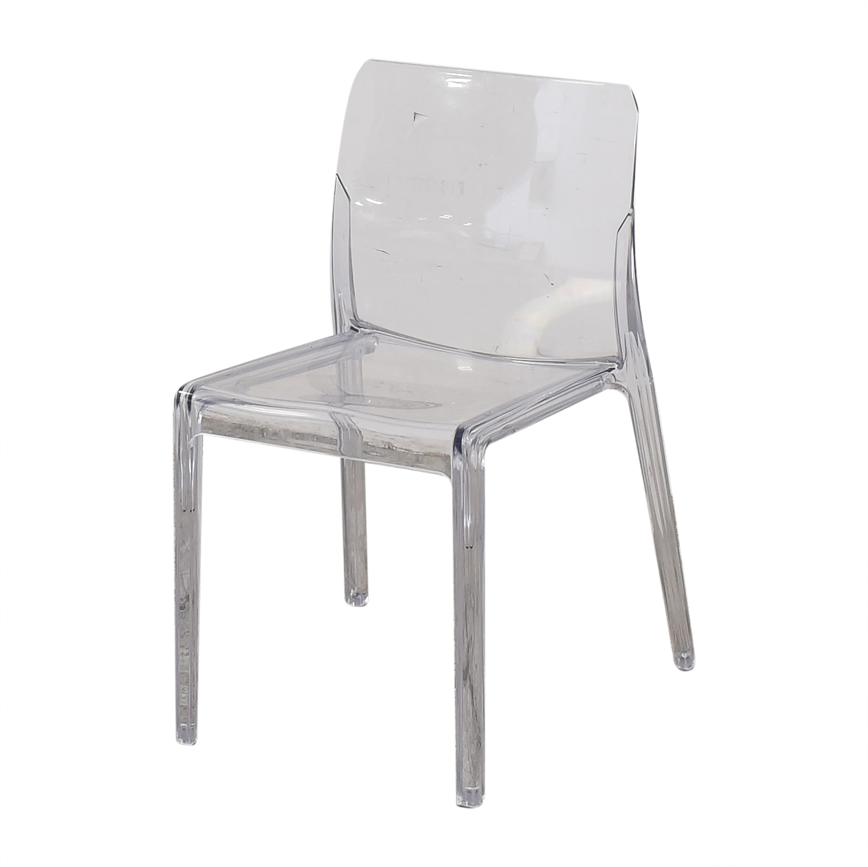 CB2 CB2 Bolla Clear Dining Chairs clear
