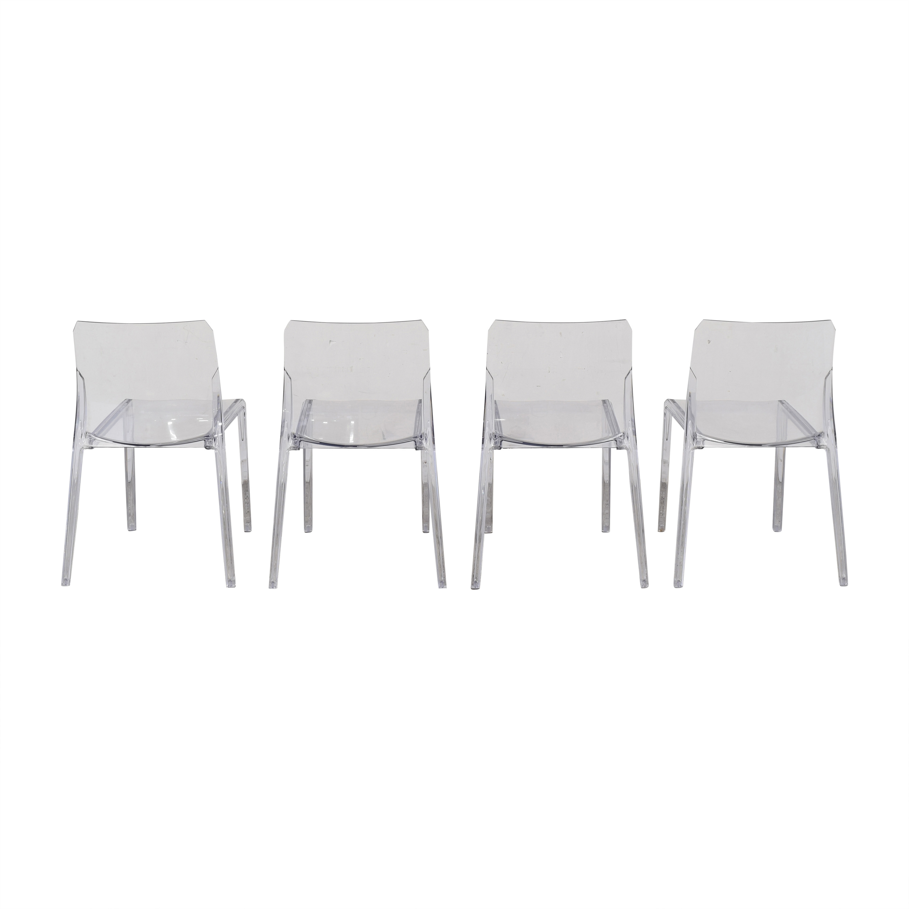 CB2 CB2 Bolla Clear Dining Chairs discount