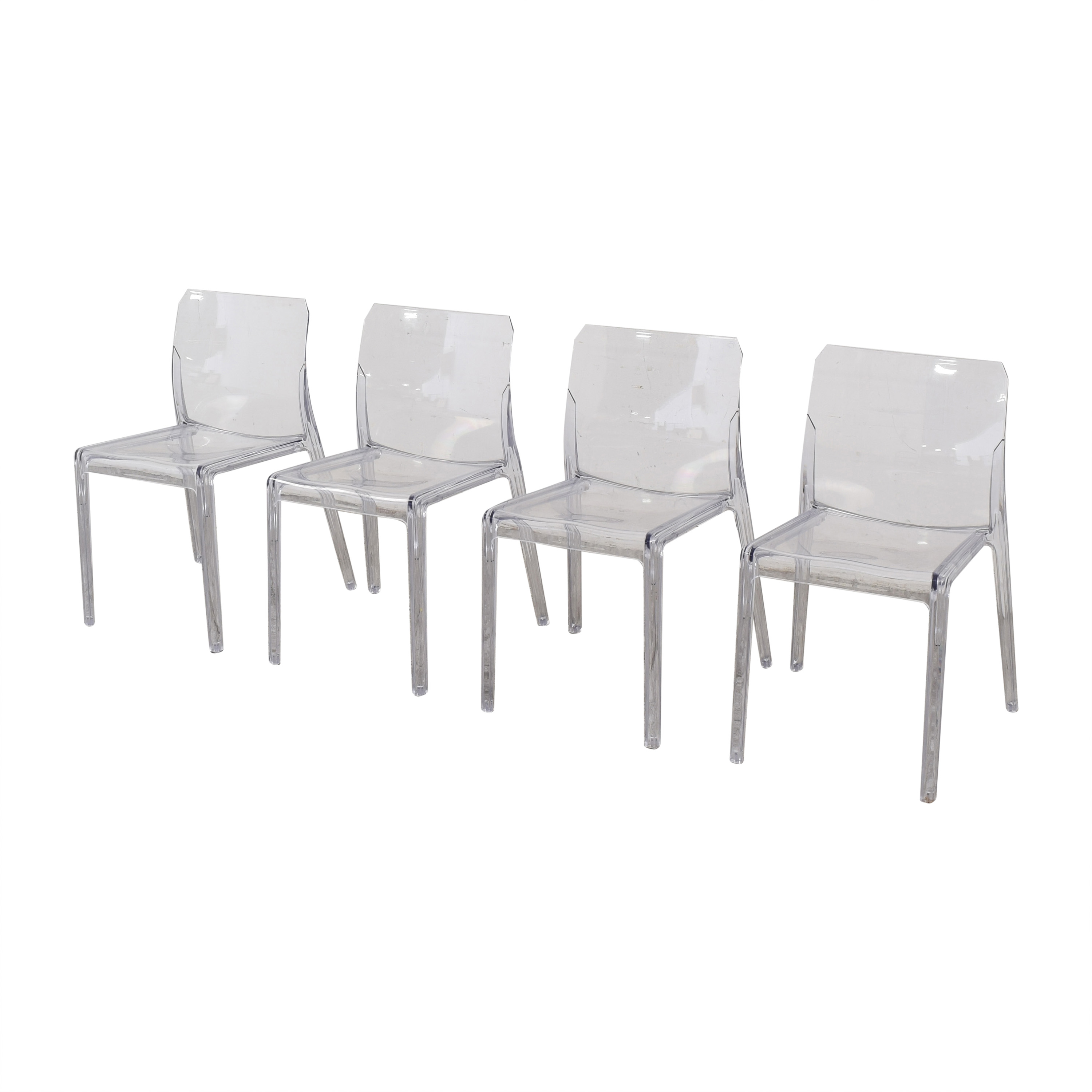 CB2 CB2 Bolla Clear Dining Chairs used