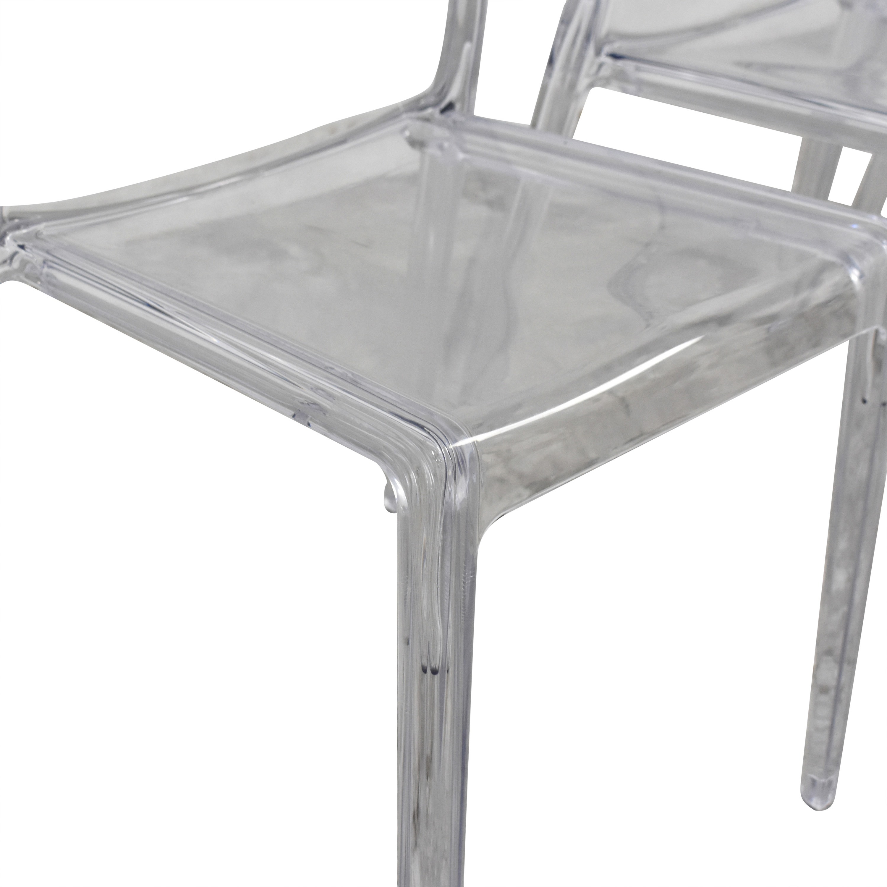 shop CB2 Bolla Clear Dining Chairs CB2