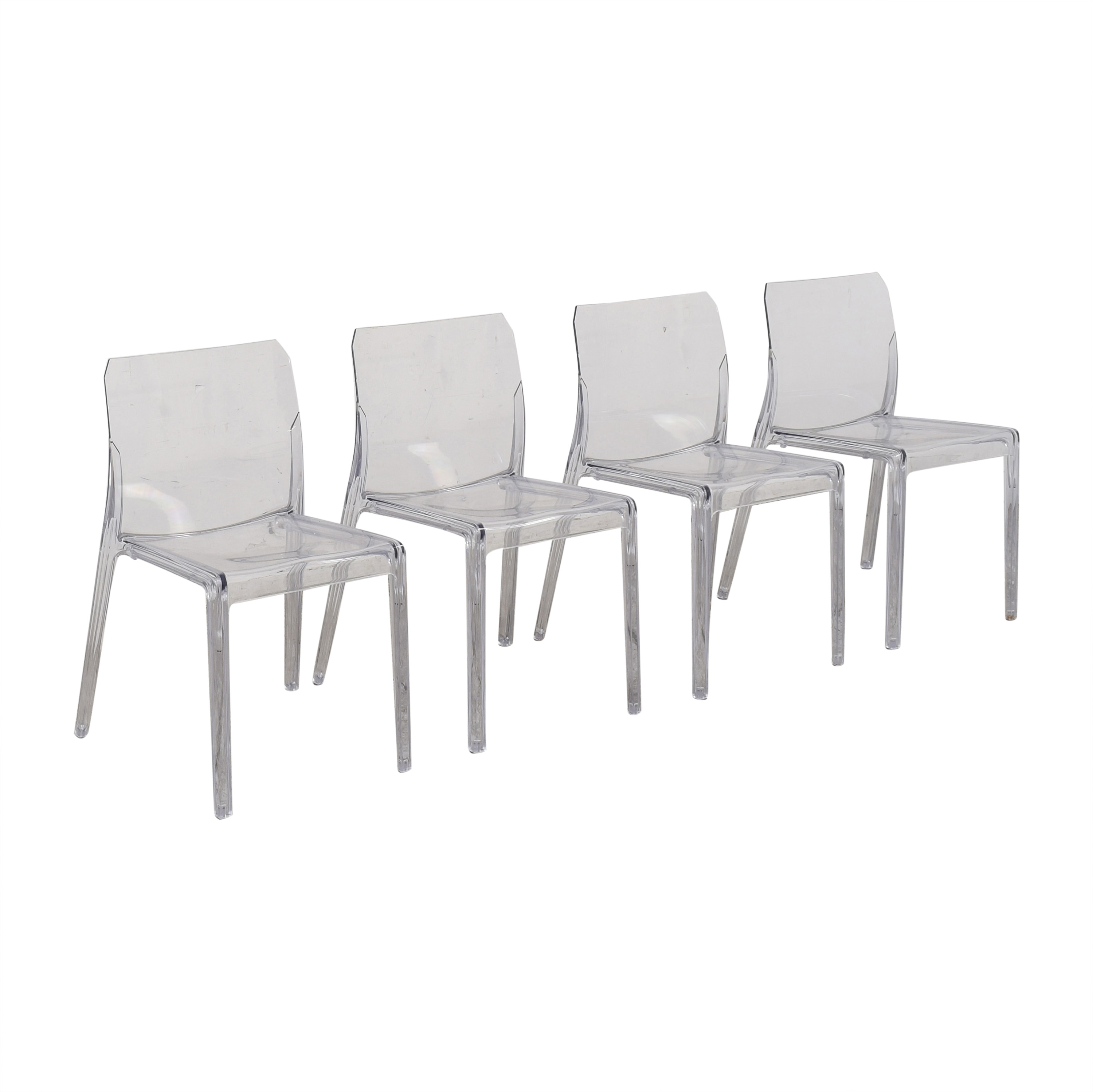 CB2 CB2 Bolla Clear Dining Chairs second hand