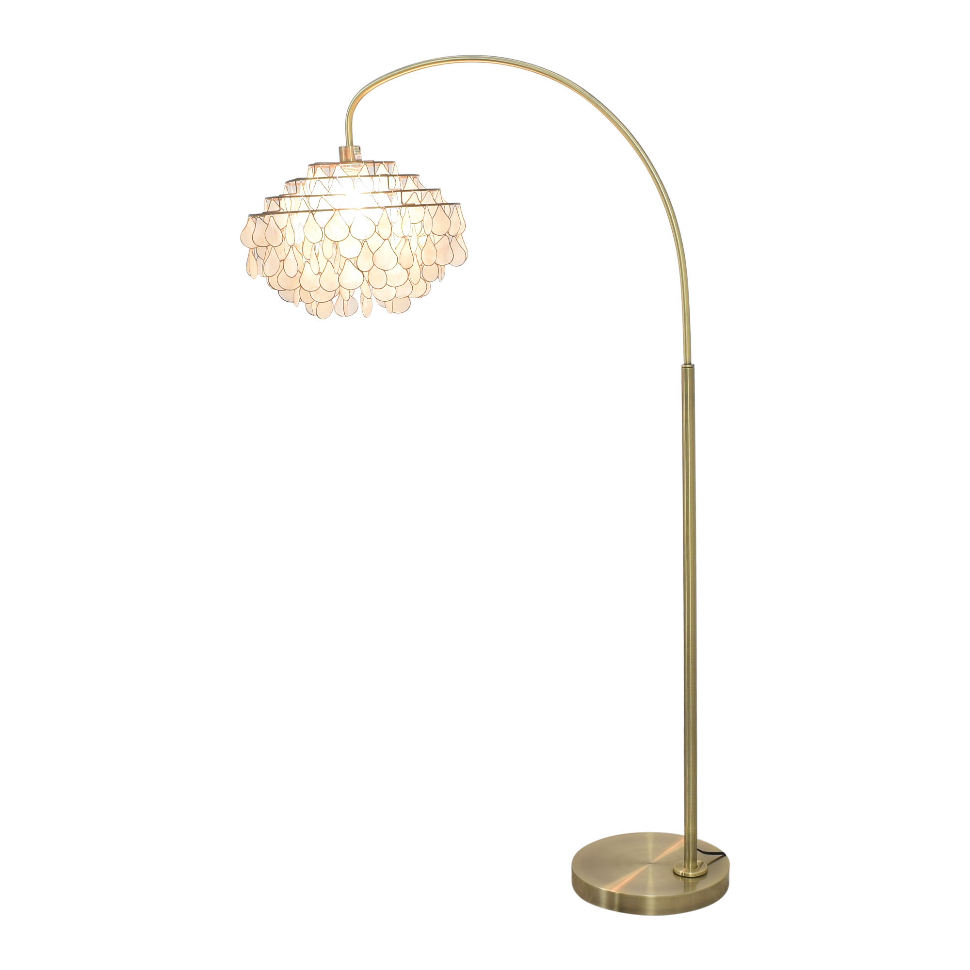 Floor Lamp with Tear-Drop Shade second hand