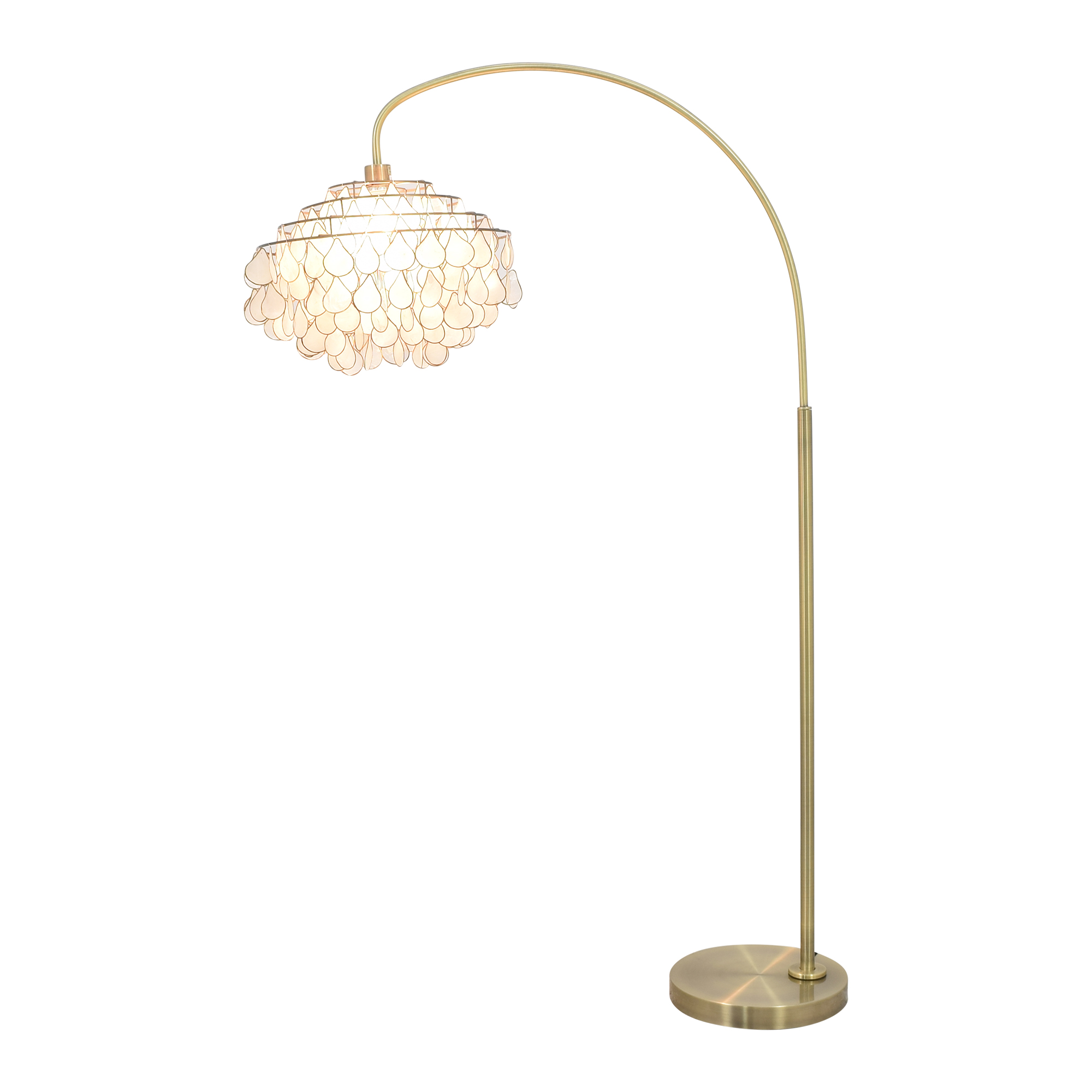 Floor Lamp with Tear-Drop Shade coupon