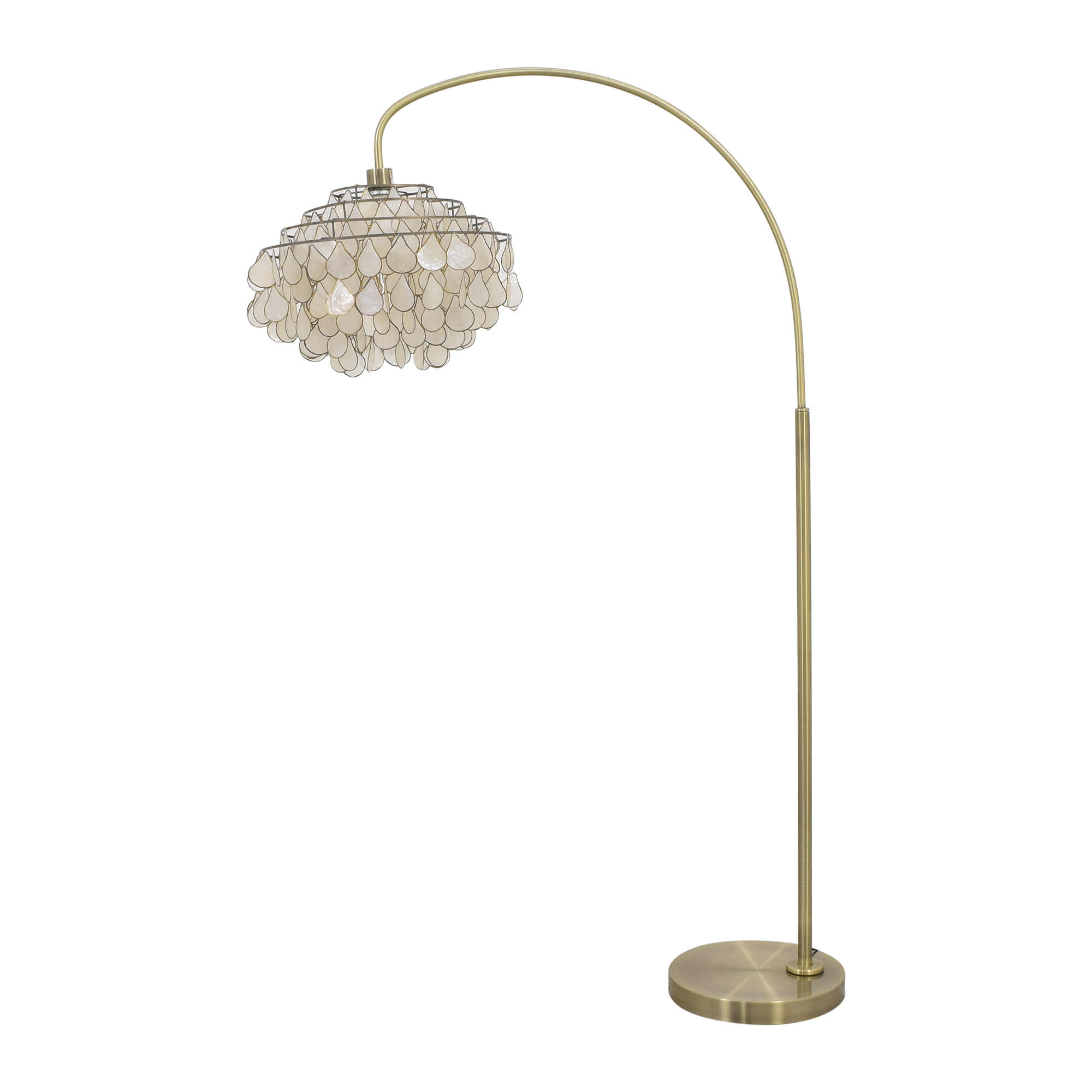 Floor Lamp with Tear-Drop Shade ct