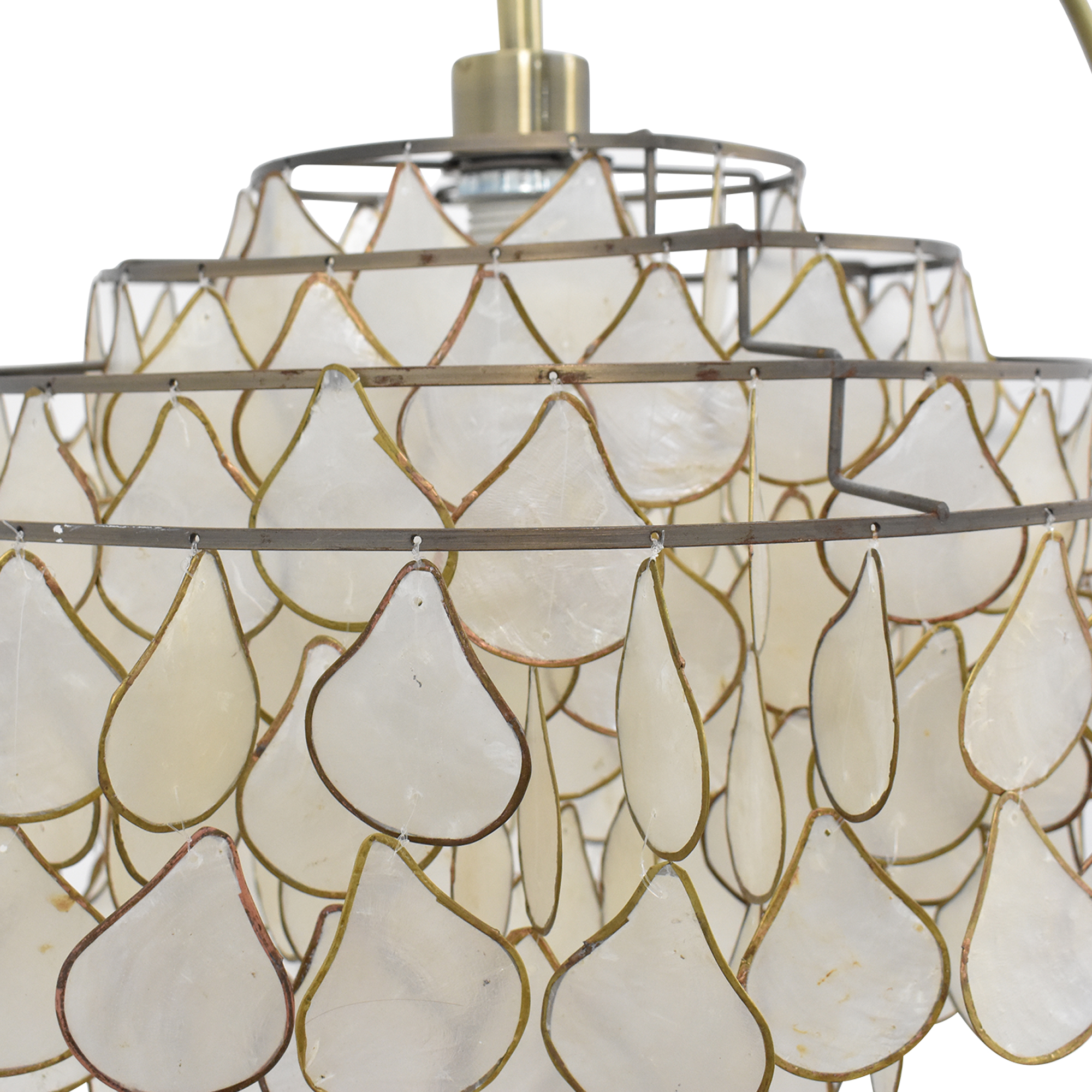 Floor Lamp with Tear-Drop Shade / Lamps