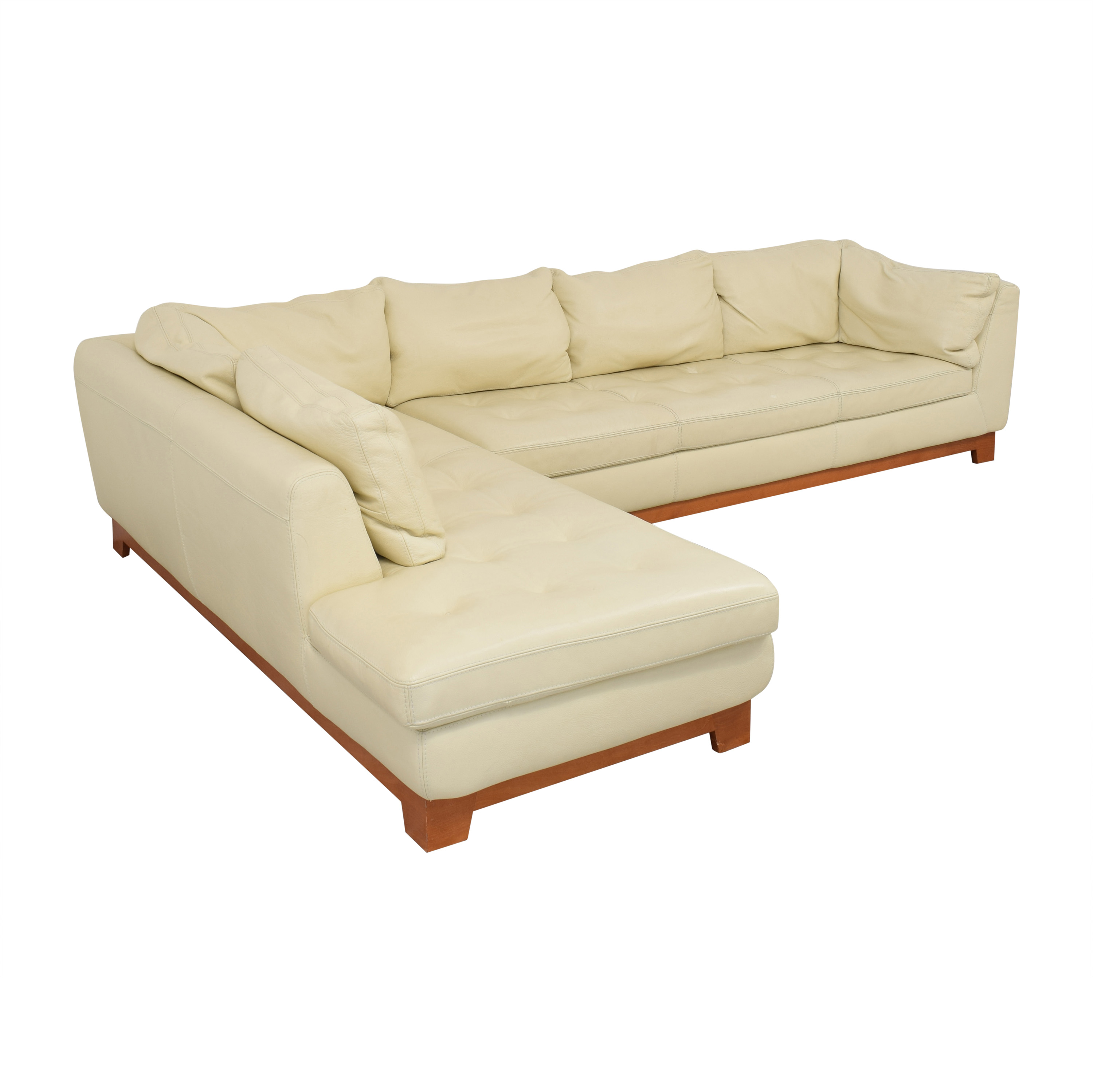 buy Roche Bobois Roche Bobois Chaise Sectional Sofa with Ottomans online