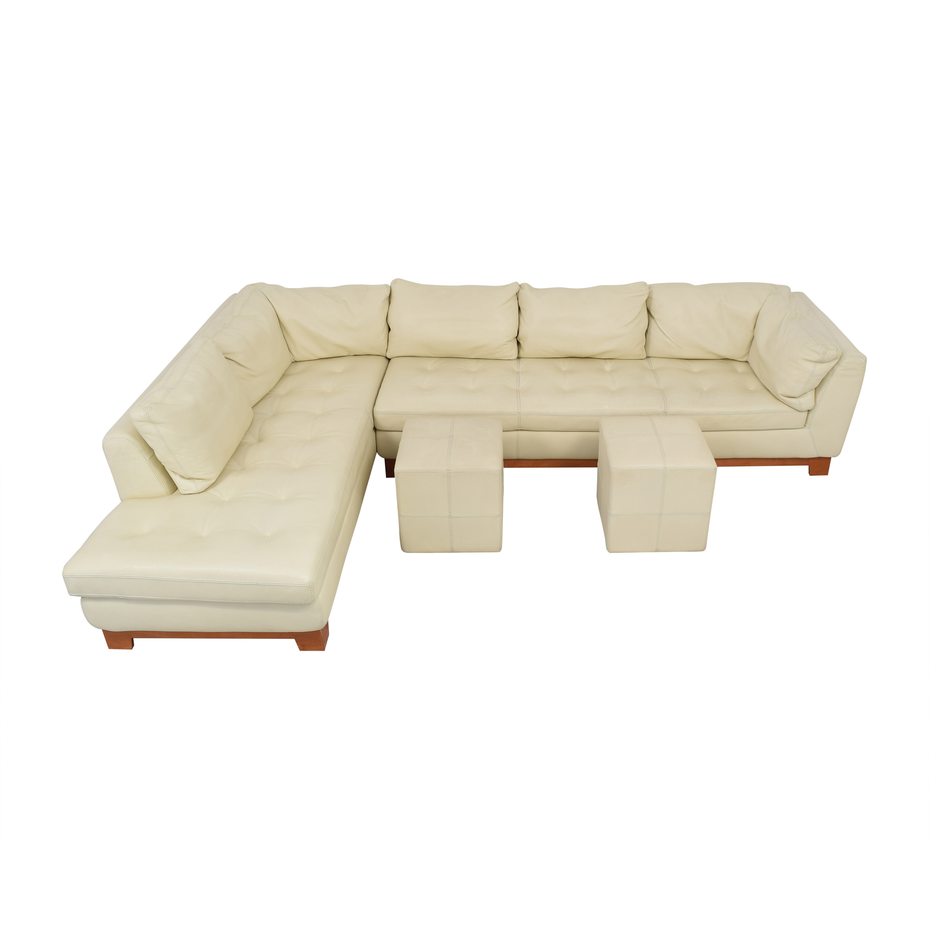 Roche Bobois Roche Bobois Chaise Sectional Sofa with Ottomans for sale