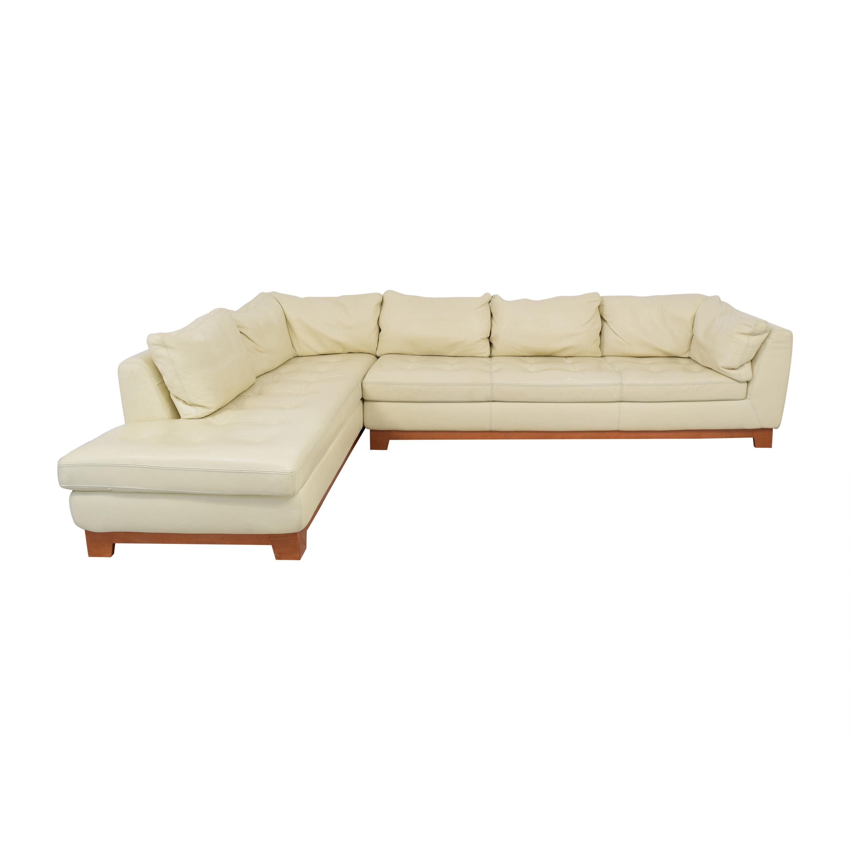 Roche Bobois Roche Bobois Chaise Sectional Sofa with Ottomans ma