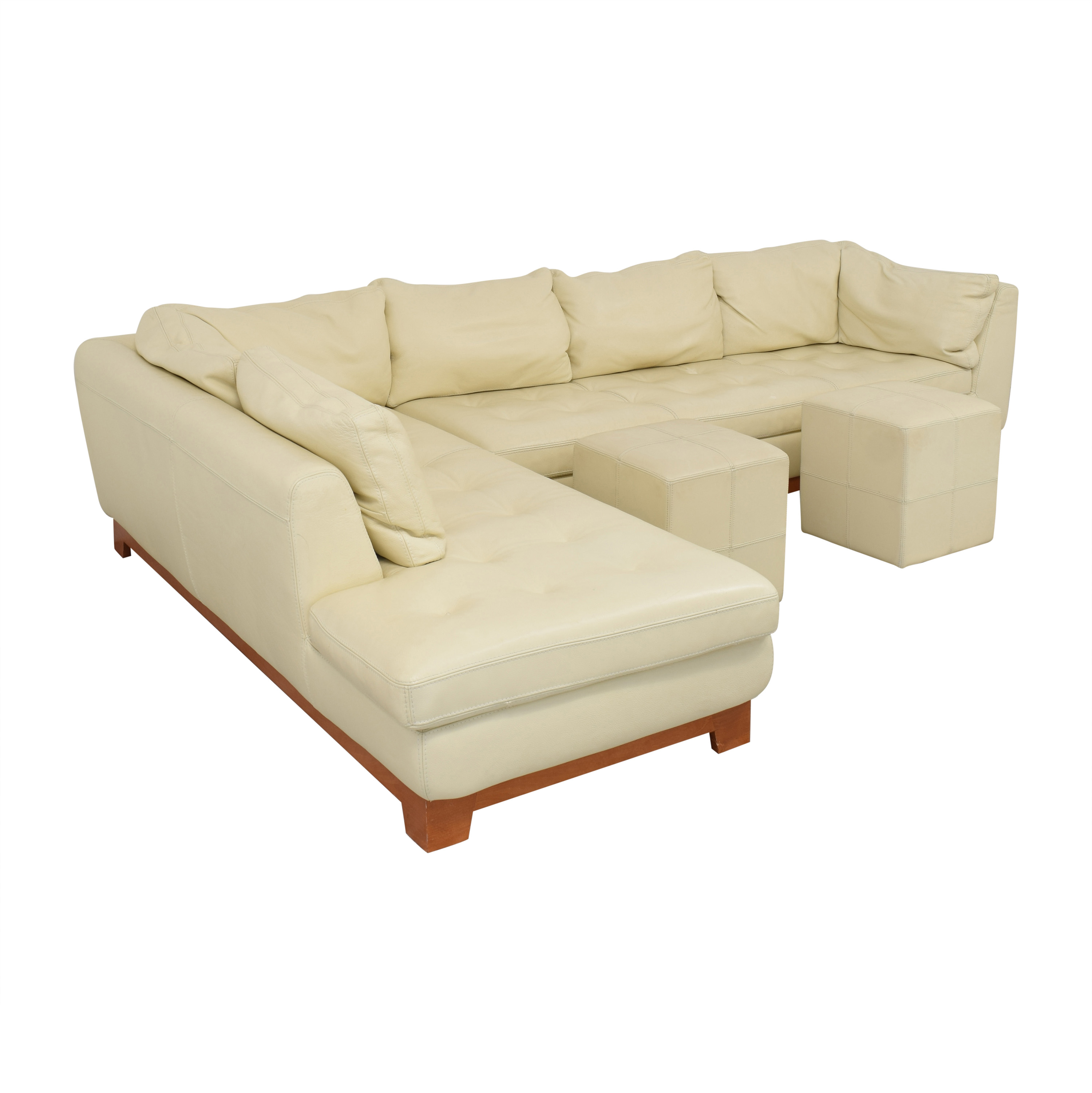 Roche Bobois Roche Bobois Chaise Sectional Sofa with Ottomans nyc