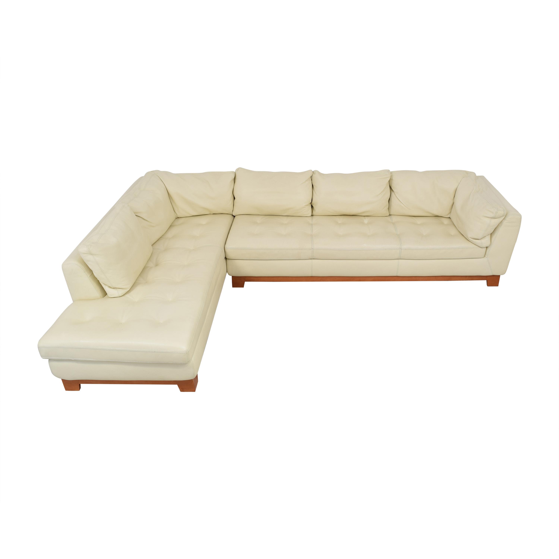 Roche Bobois Chaise Sectional Sofa with Ottomans Roche Bobois