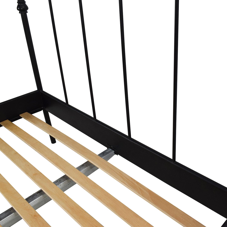 shop IKEA SVELVIK Full Size Black Bed Frame IKEA Beds