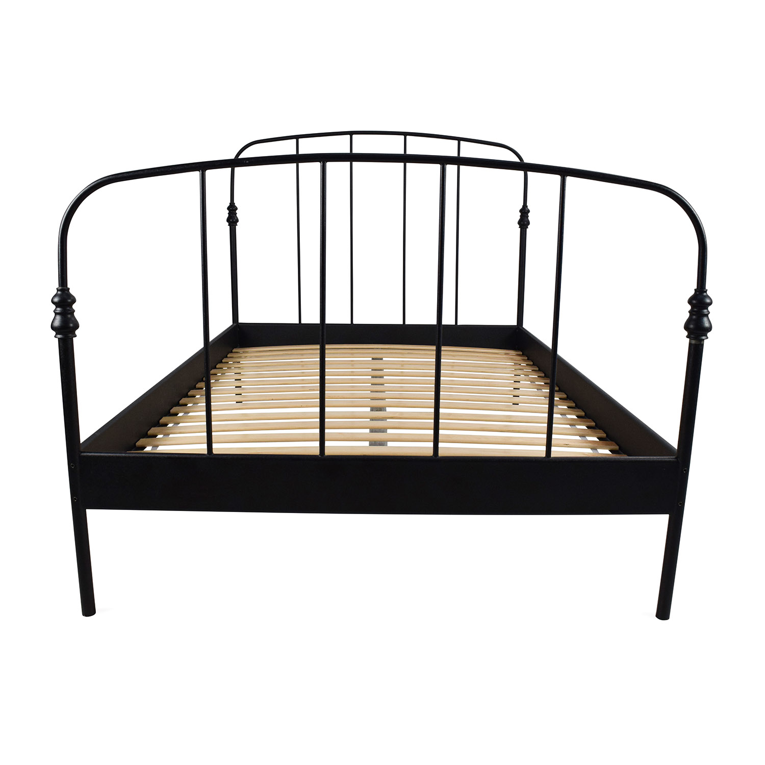 62% OFF - IKEA IKEA SVELVIK Full Size Black Bed Frame / Beds