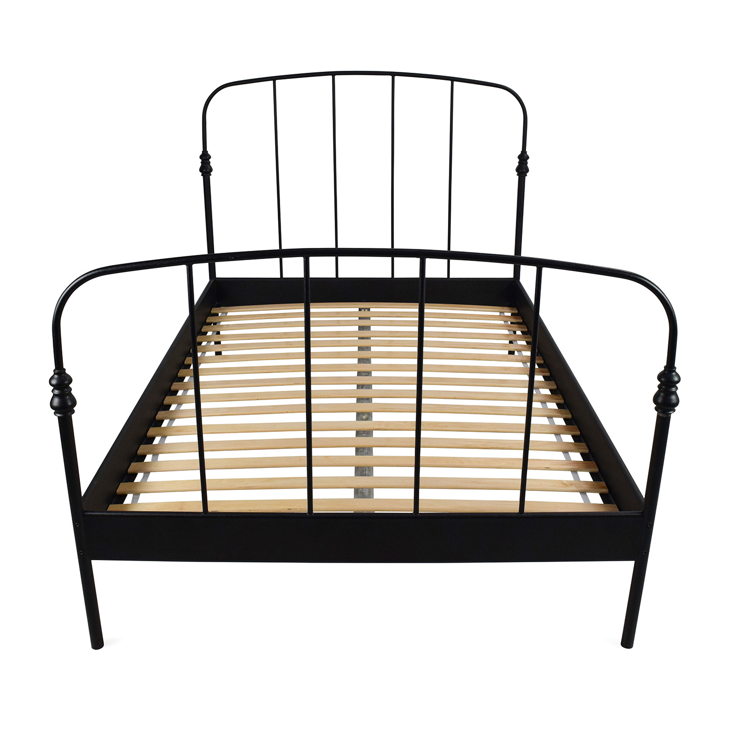 62 Off Ikea Ikea Svelvik Full Size Black Bed Frame Beds