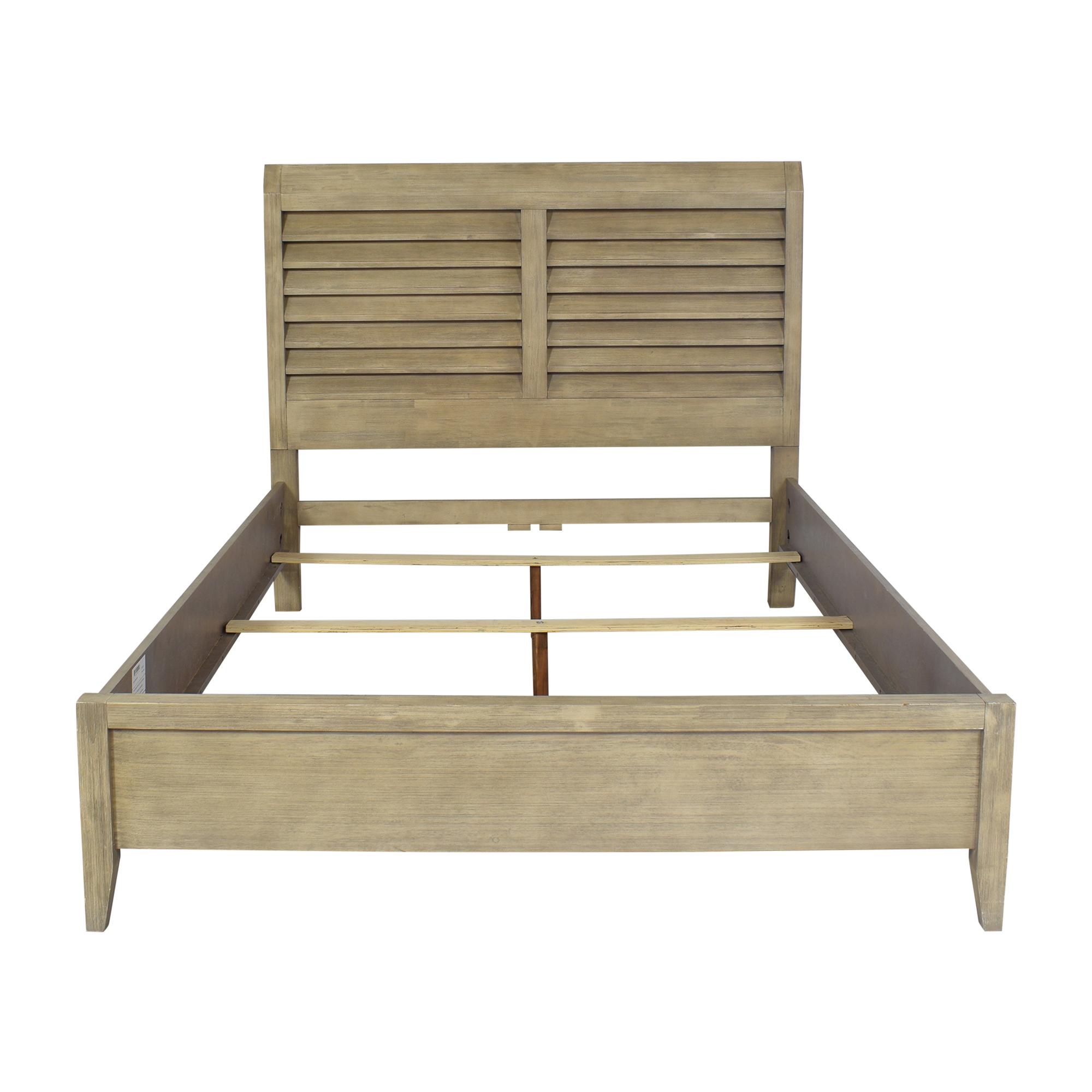 shop Cresent Corliss Landing Shutter Sleigh Queen Bed Cresent Furniture Beds