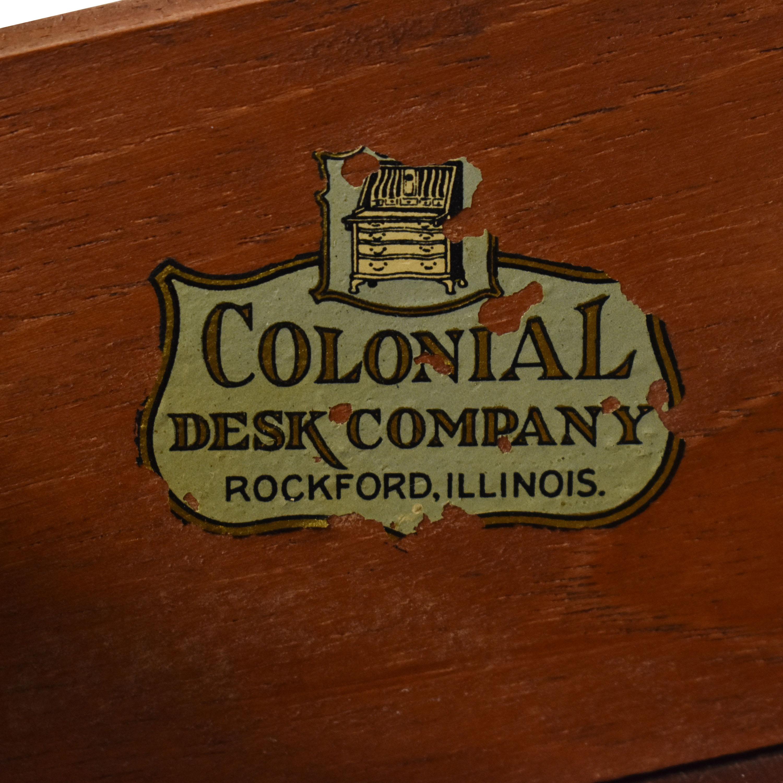 Colonial Desk Company Secretary Desk dimensions