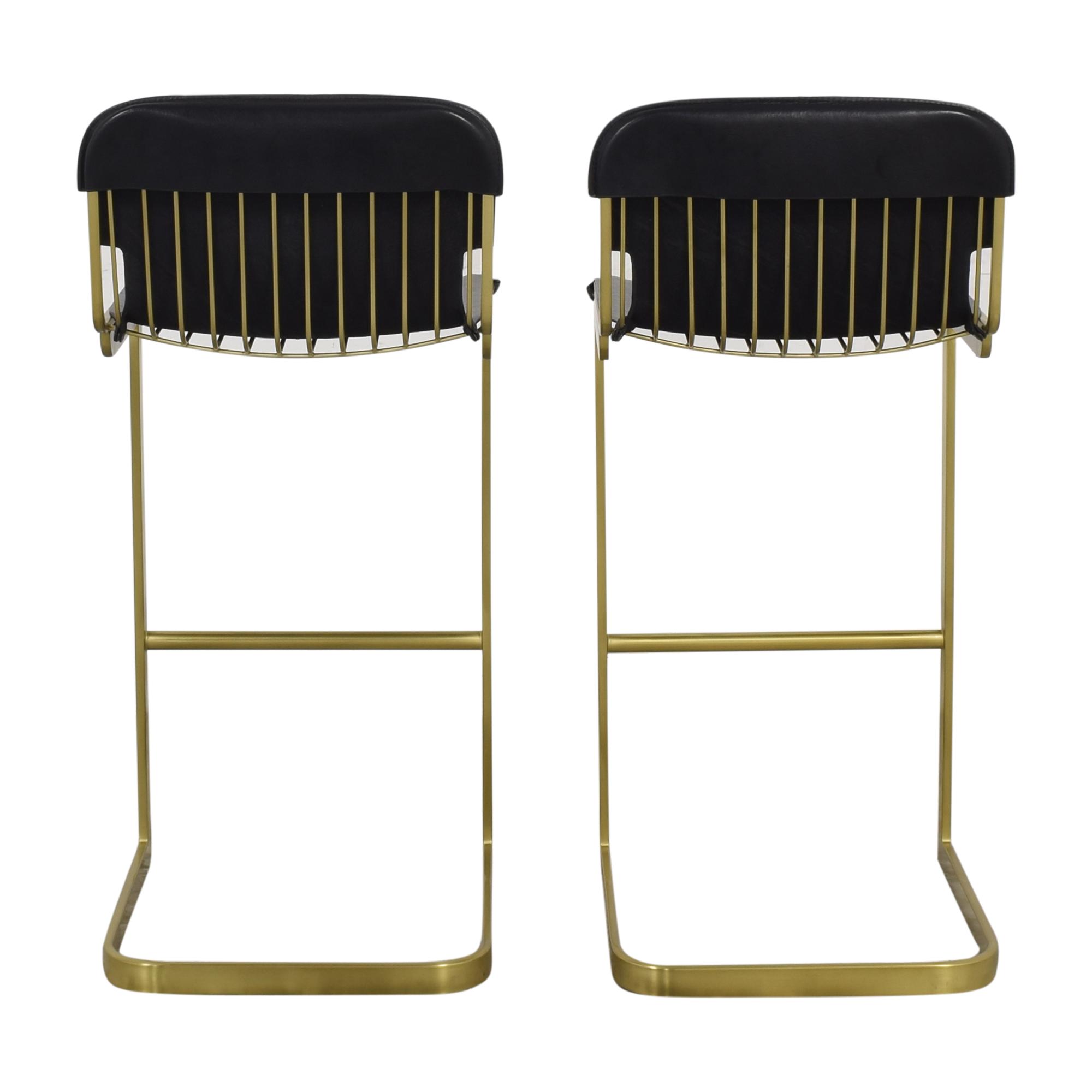 buy CB2 Rake Brass Bar Stools CB2 Chairs
