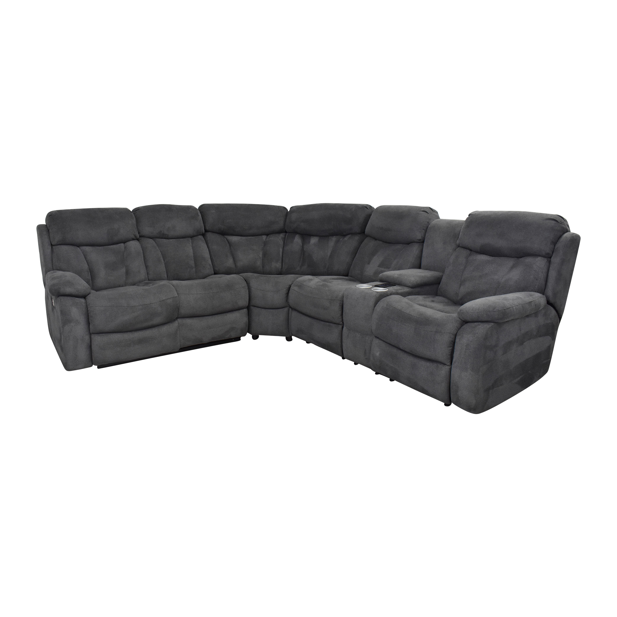 shop Raymour & Flanigan Connell Reclining Sectional Sofa Raymour & Flanigan