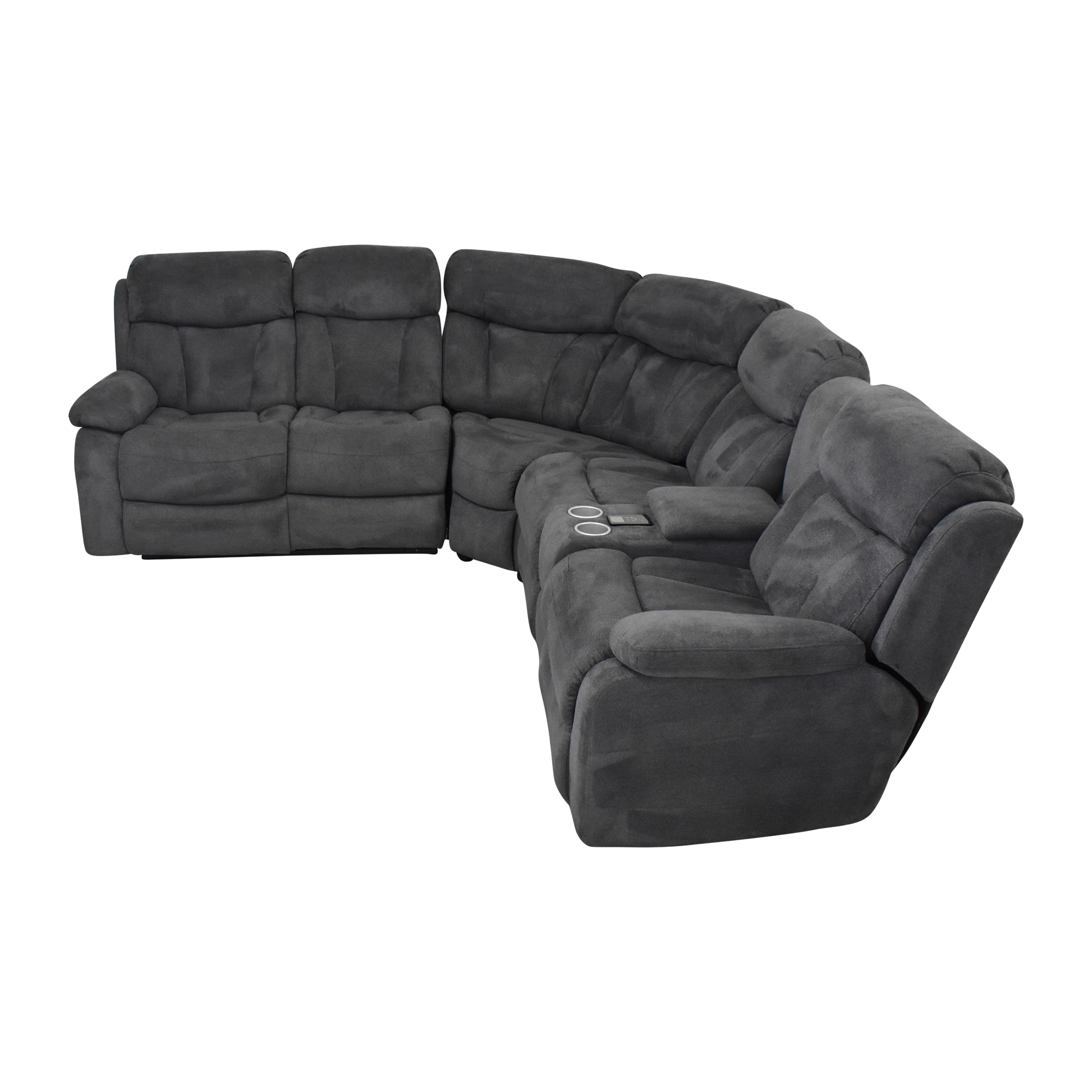 Raymour & Flanigan Raymour & Flanigan Connell Reclining Sectional Sofa nyc
