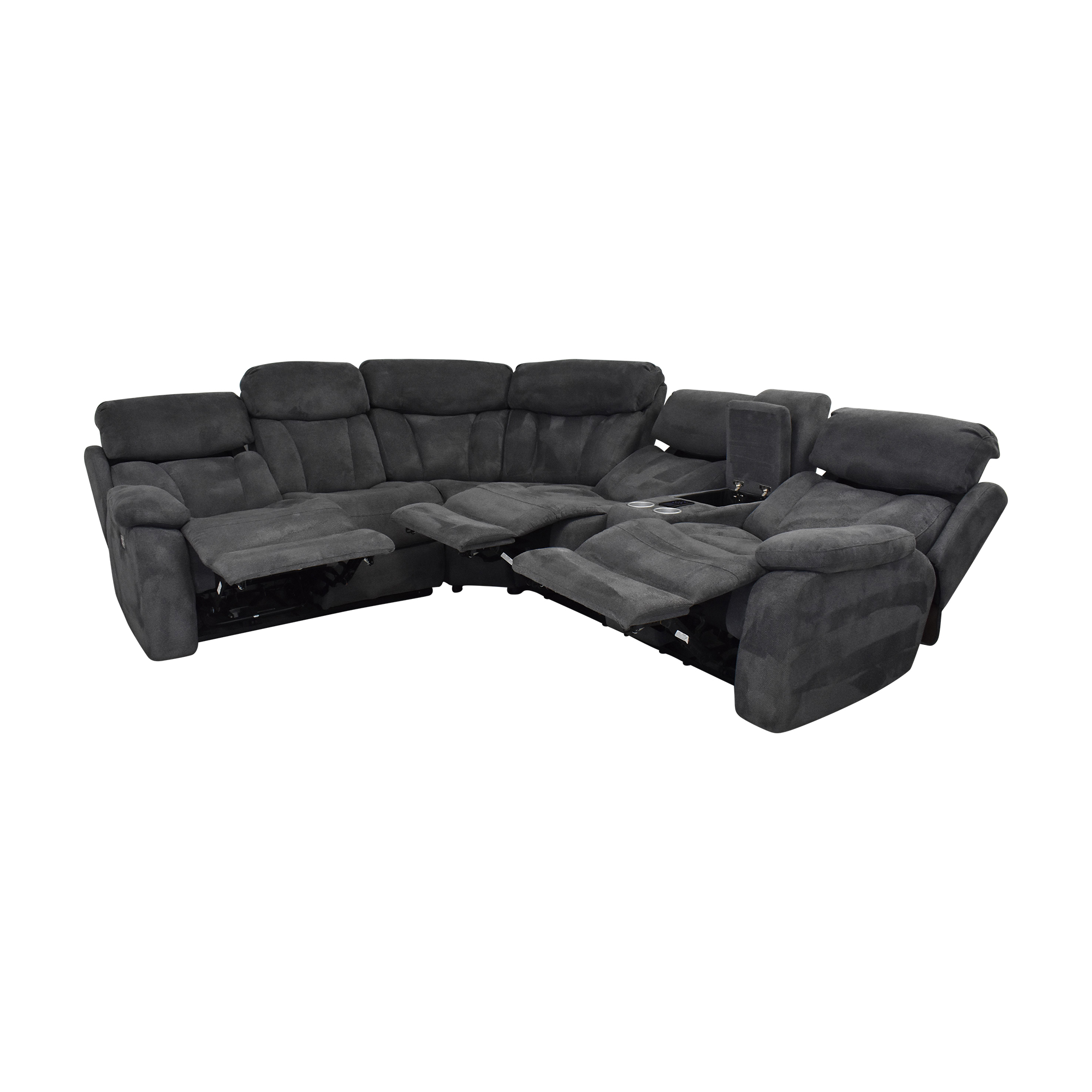 Raymour & Flanigan Raymour & Flanigan Connell Reclining Sectional Sofa second hand