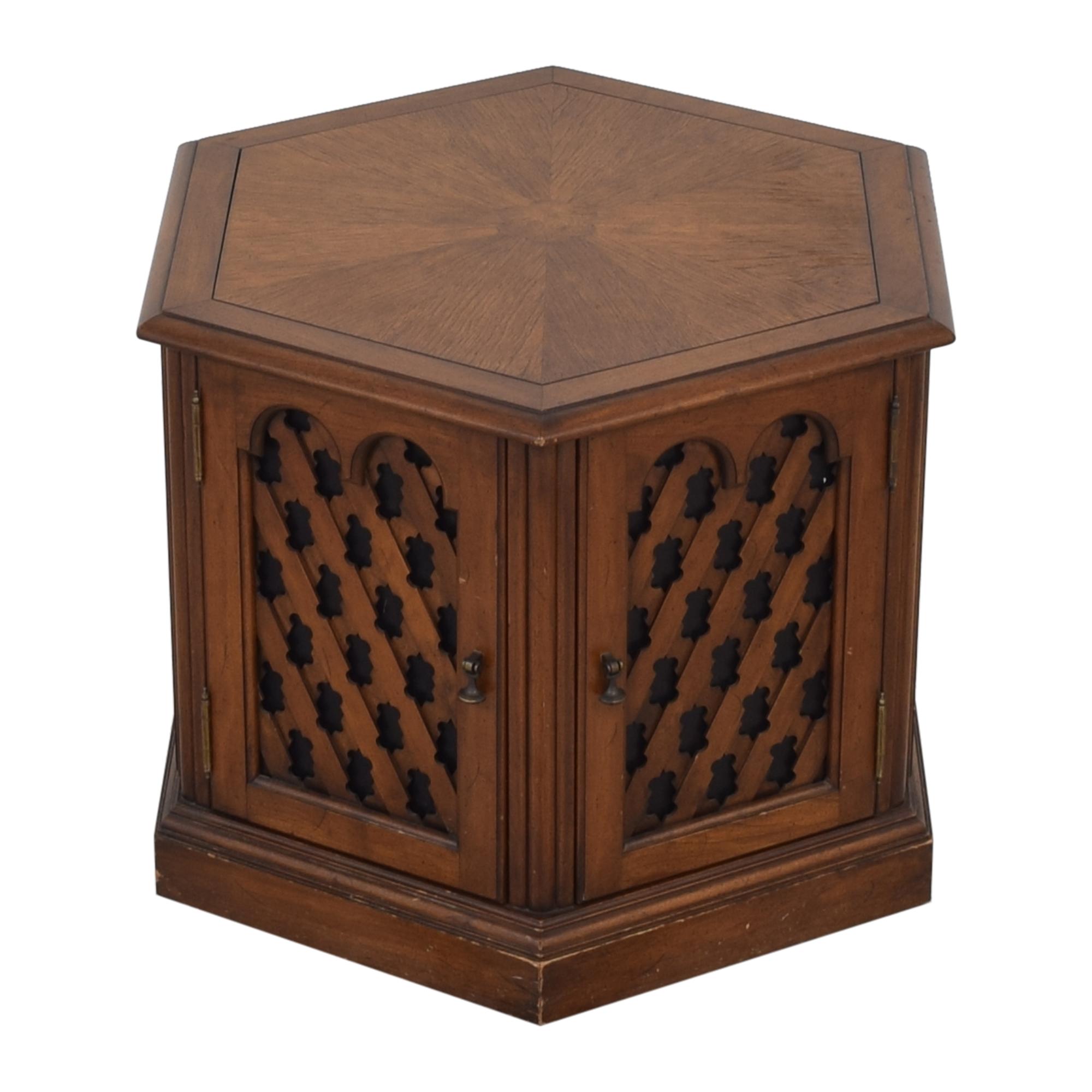 Drexel Drexel Hexagon Side Table pa