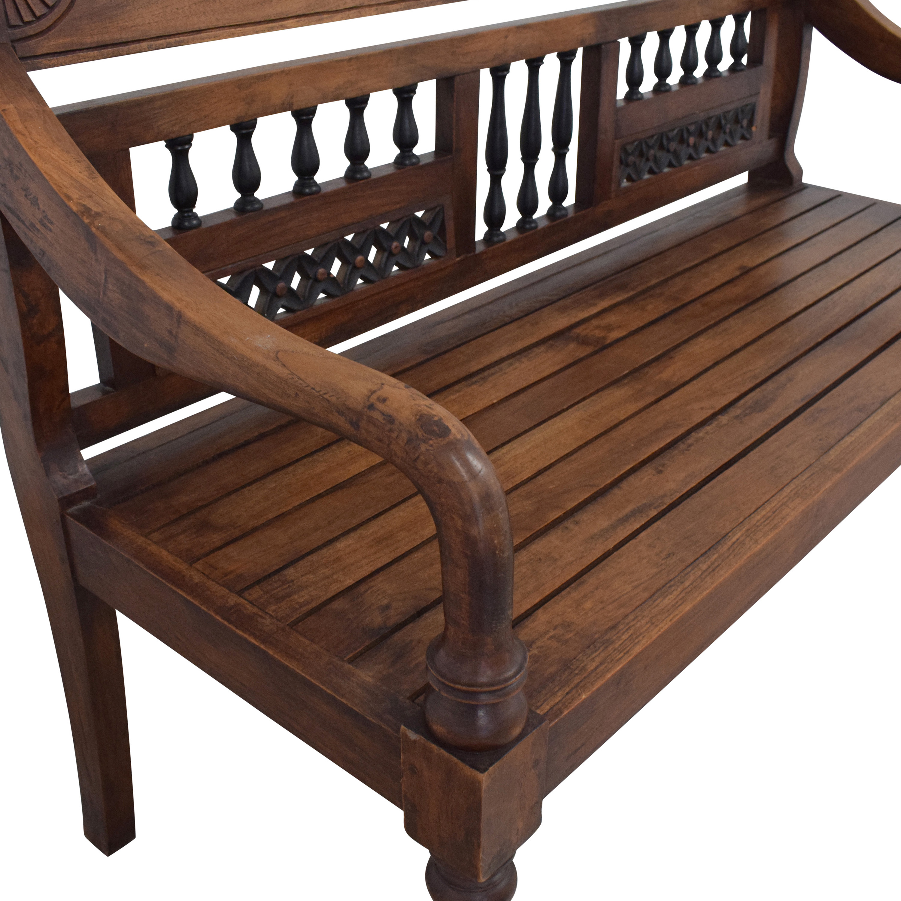 Vintage Wooden Bench dimensions