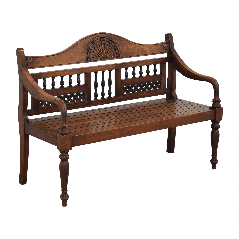 Vintage Wooden Bench discount