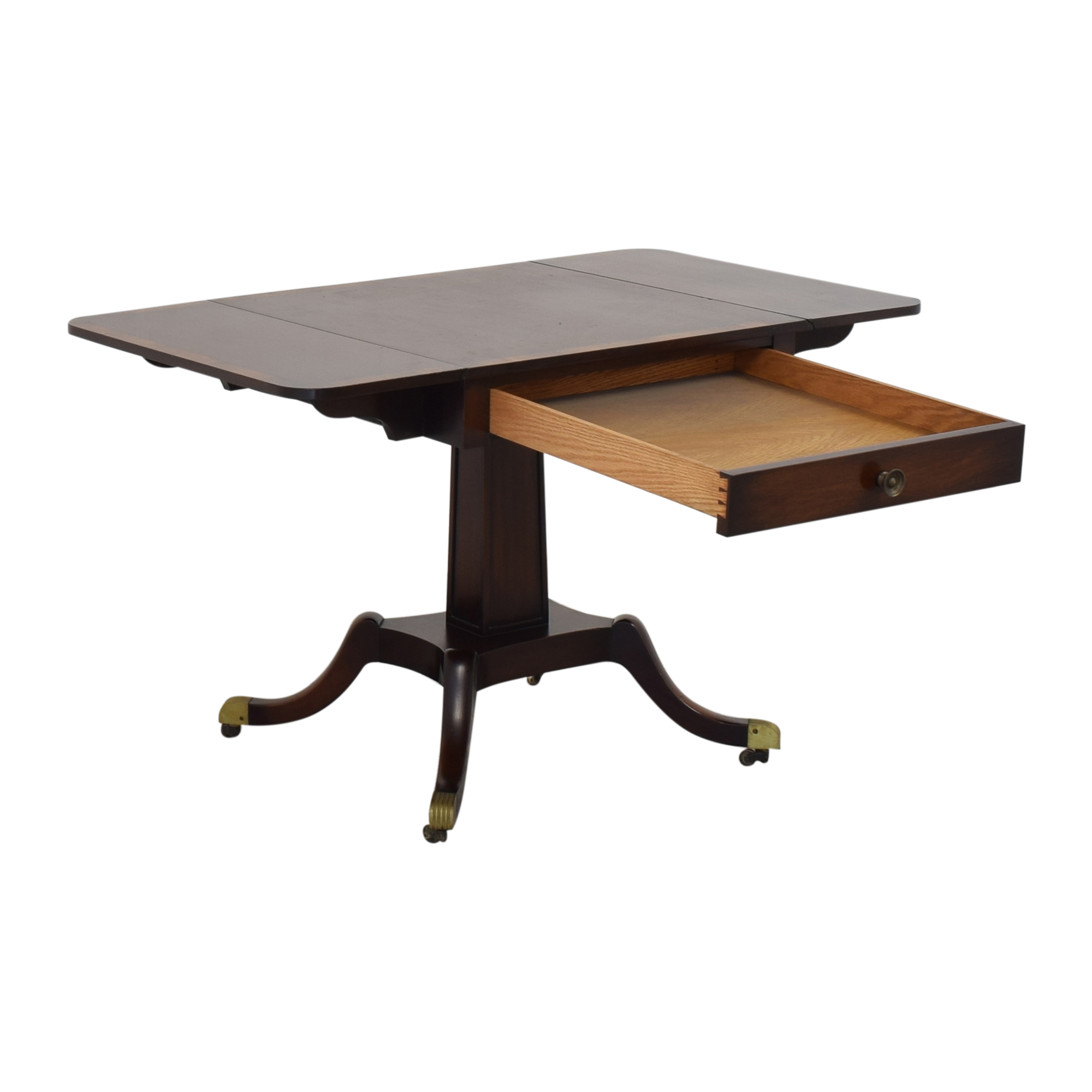 Vintage Federal Style Drop Leaf Table dimensions