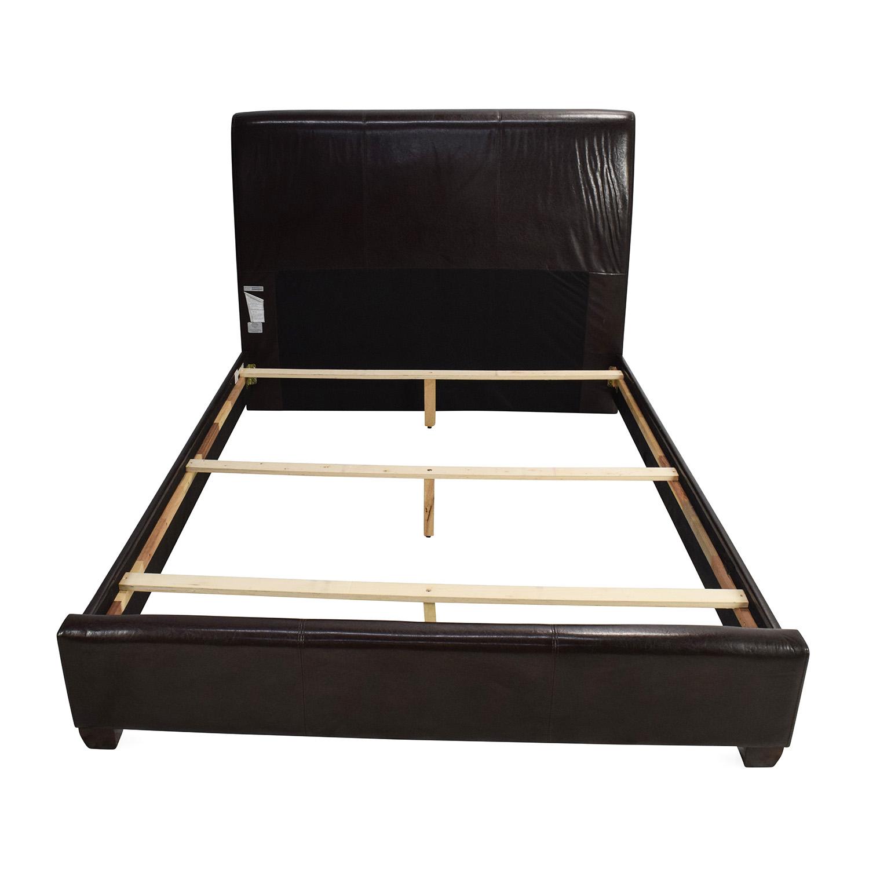 buy Coaster Dark Leather Queen Bed Coaster