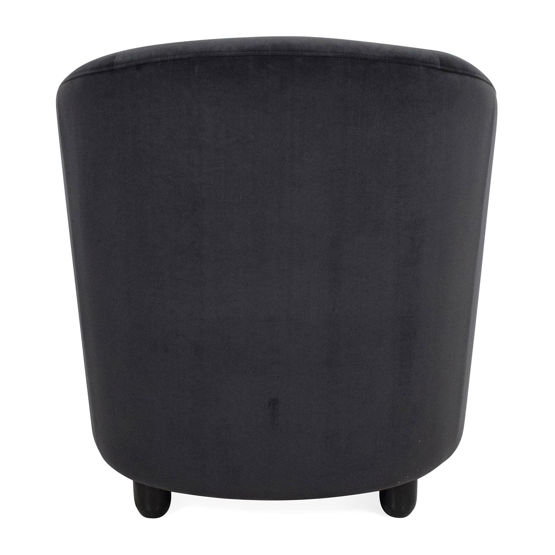 ... Natuzzi Natuzzi Dark Grey Corner Chair For Sale ...