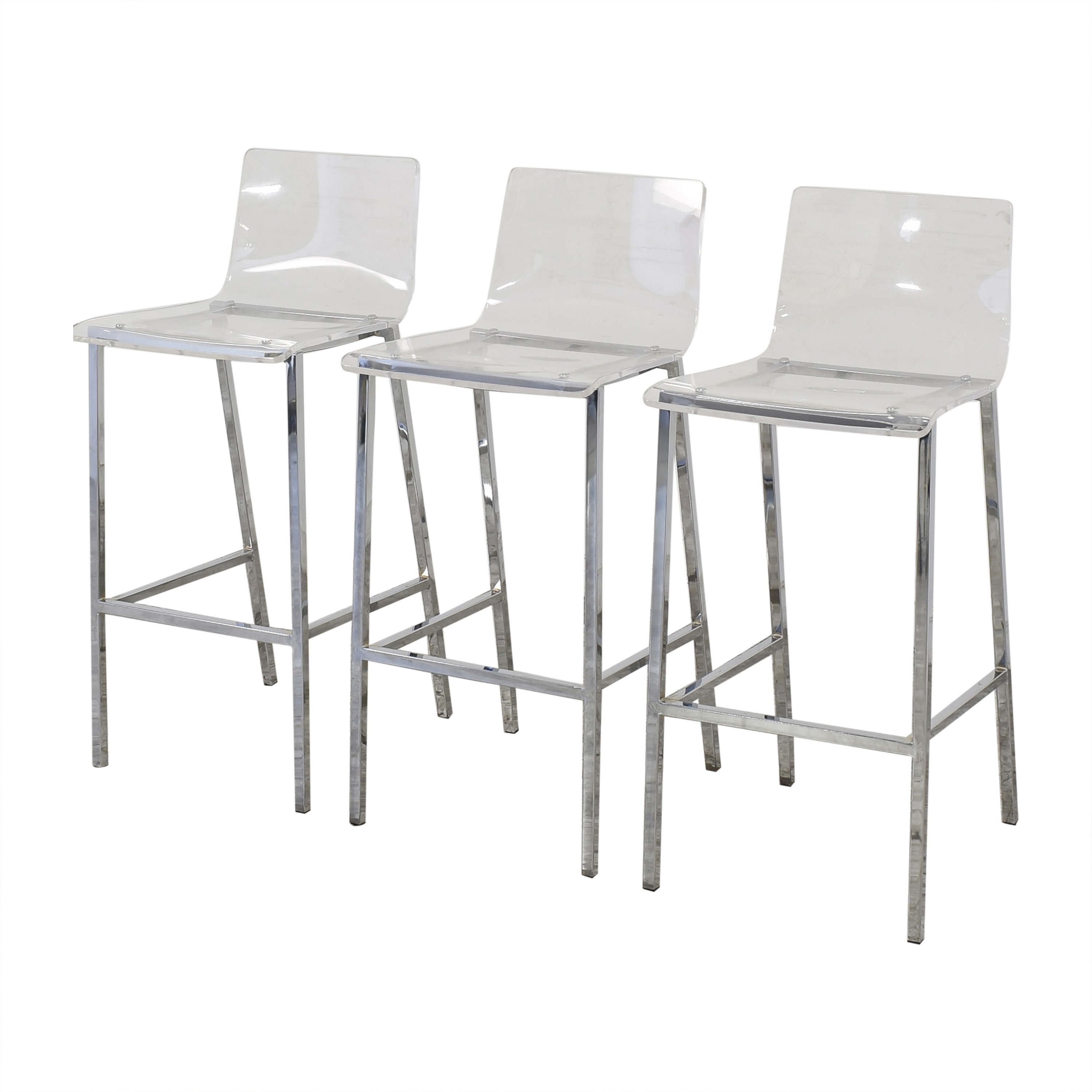 Glass Wood Dining Table, 33 Off Cb2 Cb2 Vapor Bar Stools Chairs