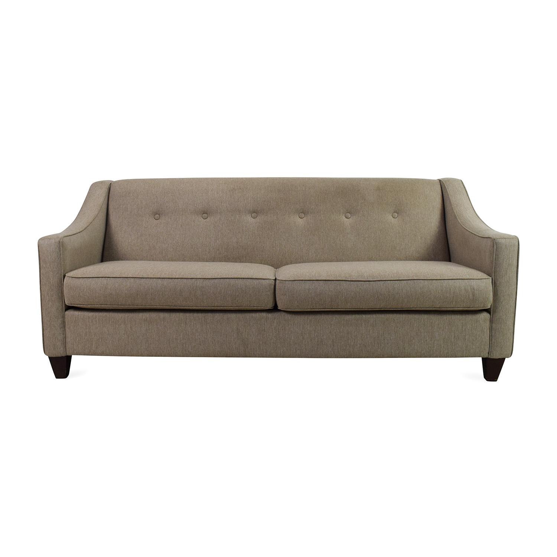 55% OFF Ethan Allen Ethan Allen Rolled Arm White Sofa Sofas