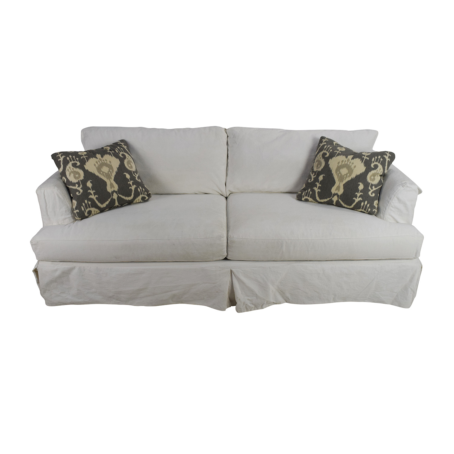Jennifer Convertibles Melissa Slipcovered Sofa sale