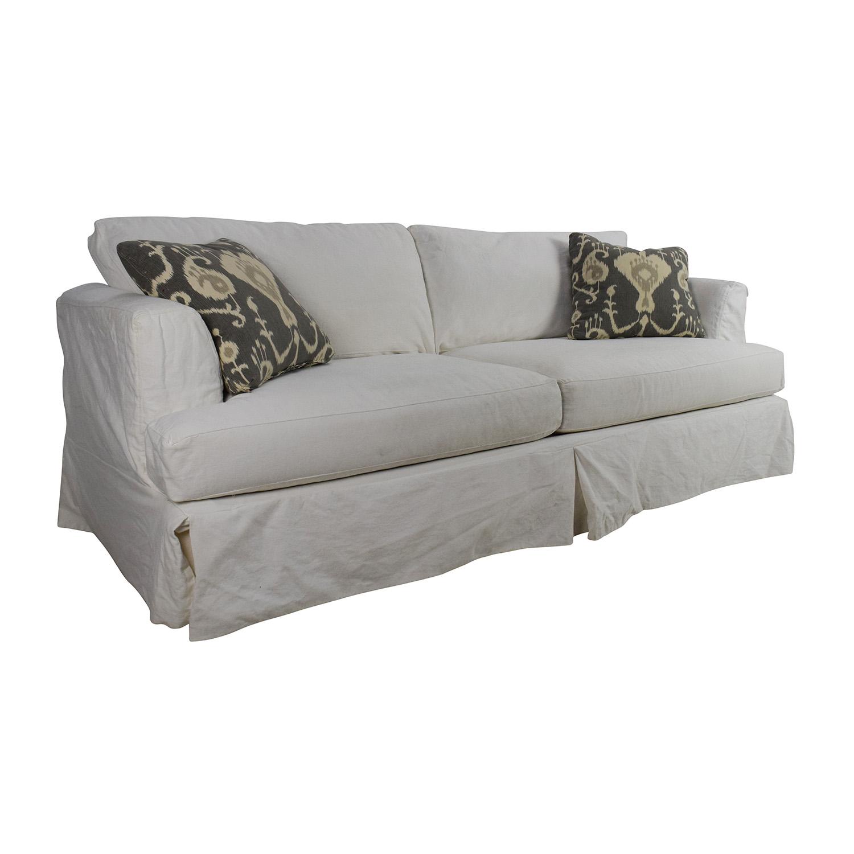 Brilliant 82 Off Jennifer Furniture Jennifer Convertibles Melissa Slipcovered Sofa Sofas Machost Co Dining Chair Design Ideas Machostcouk