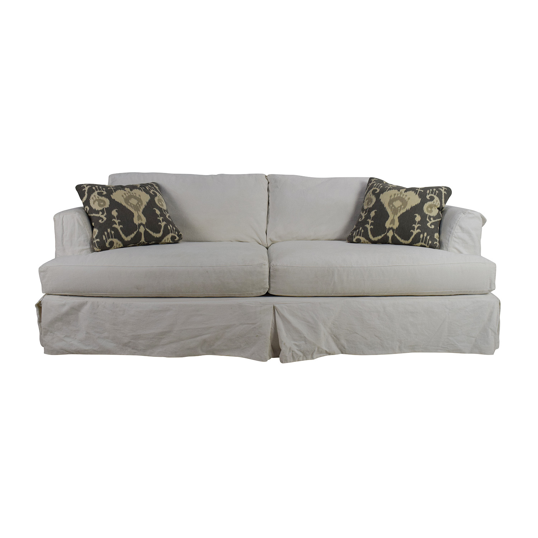 Pleasing 82 Off Jennifer Furniture Jennifer Convertibles Melissa Slipcovered Sofa Sofas Machost Co Dining Chair Design Ideas Machostcouk
