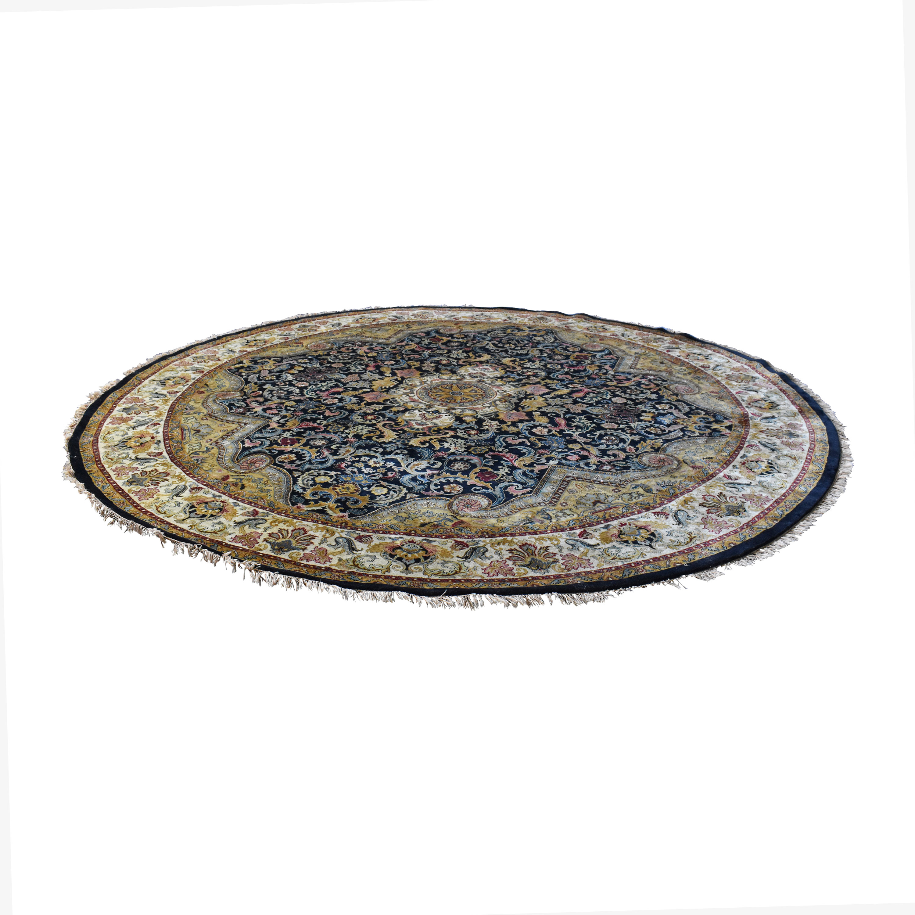 Round Wool Rug for sale