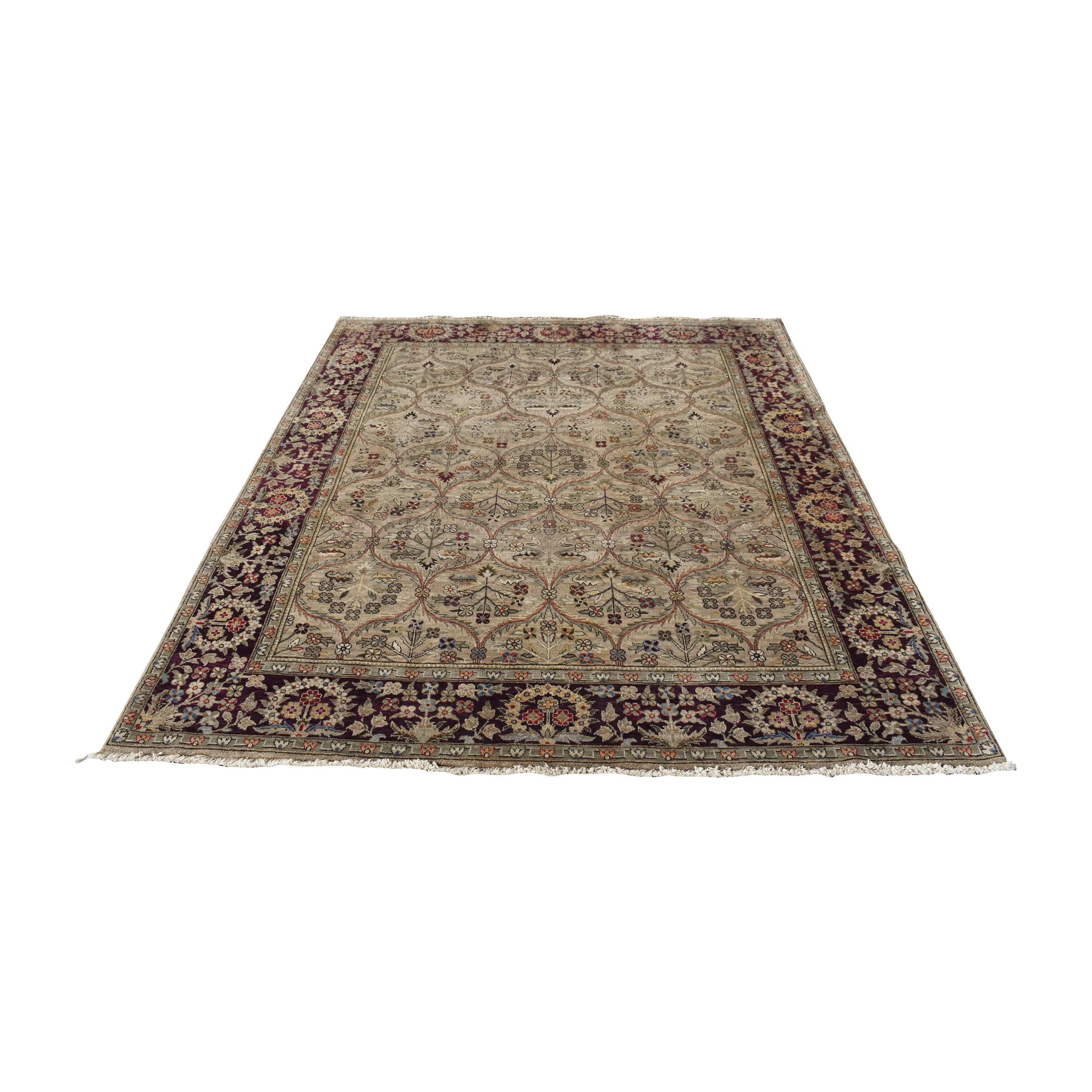 Bordered Style Area Rug ct