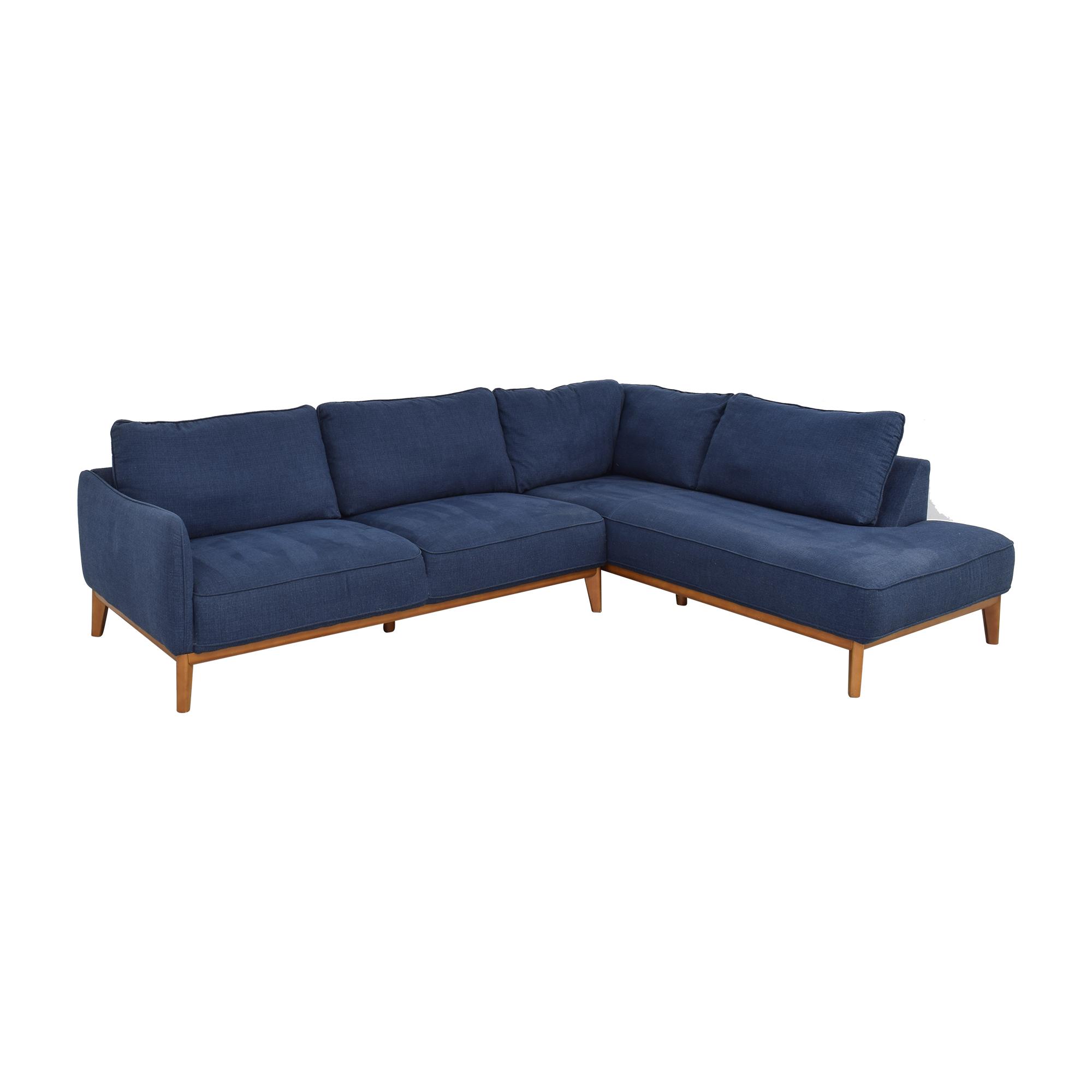 Jason Furniture Macy's Jollene Sectional Sofa used