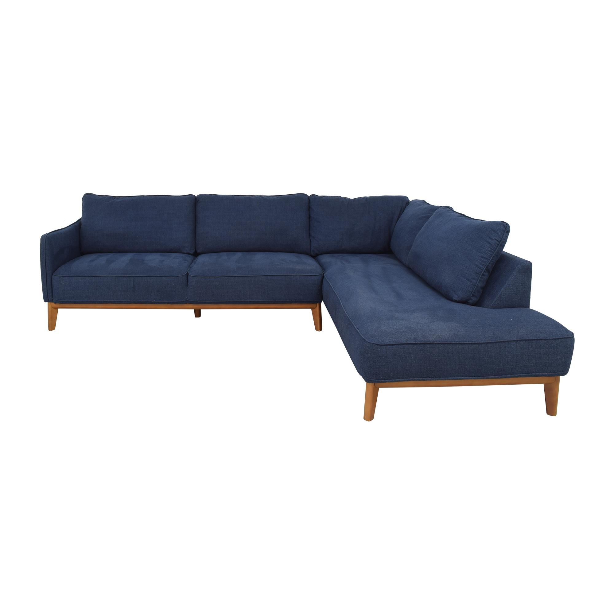 shop Macy's Jollene Sectional Sofa Jason Furniture Sectionals