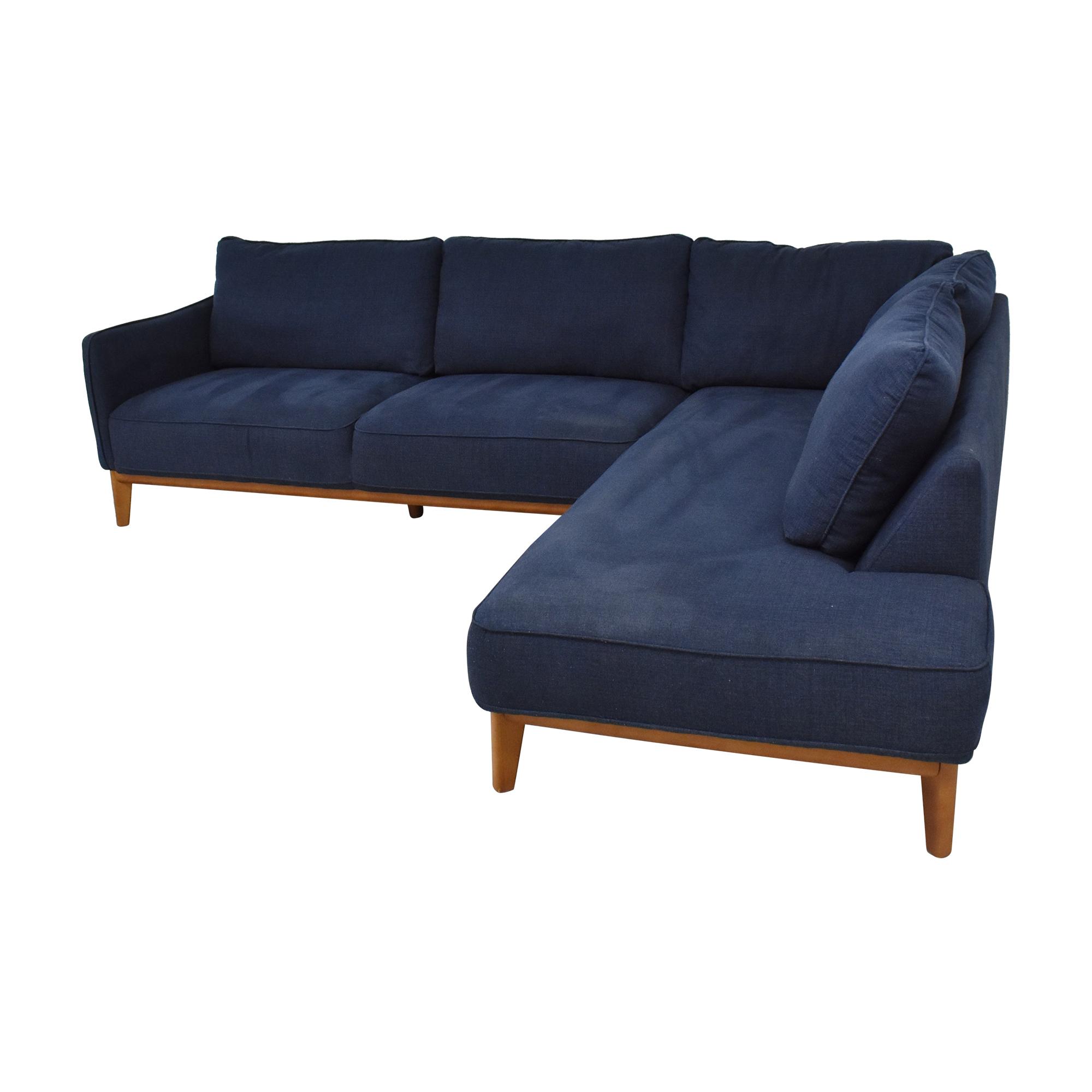 Jason Furniture Macy's Jollene Sectional Sofa second hand