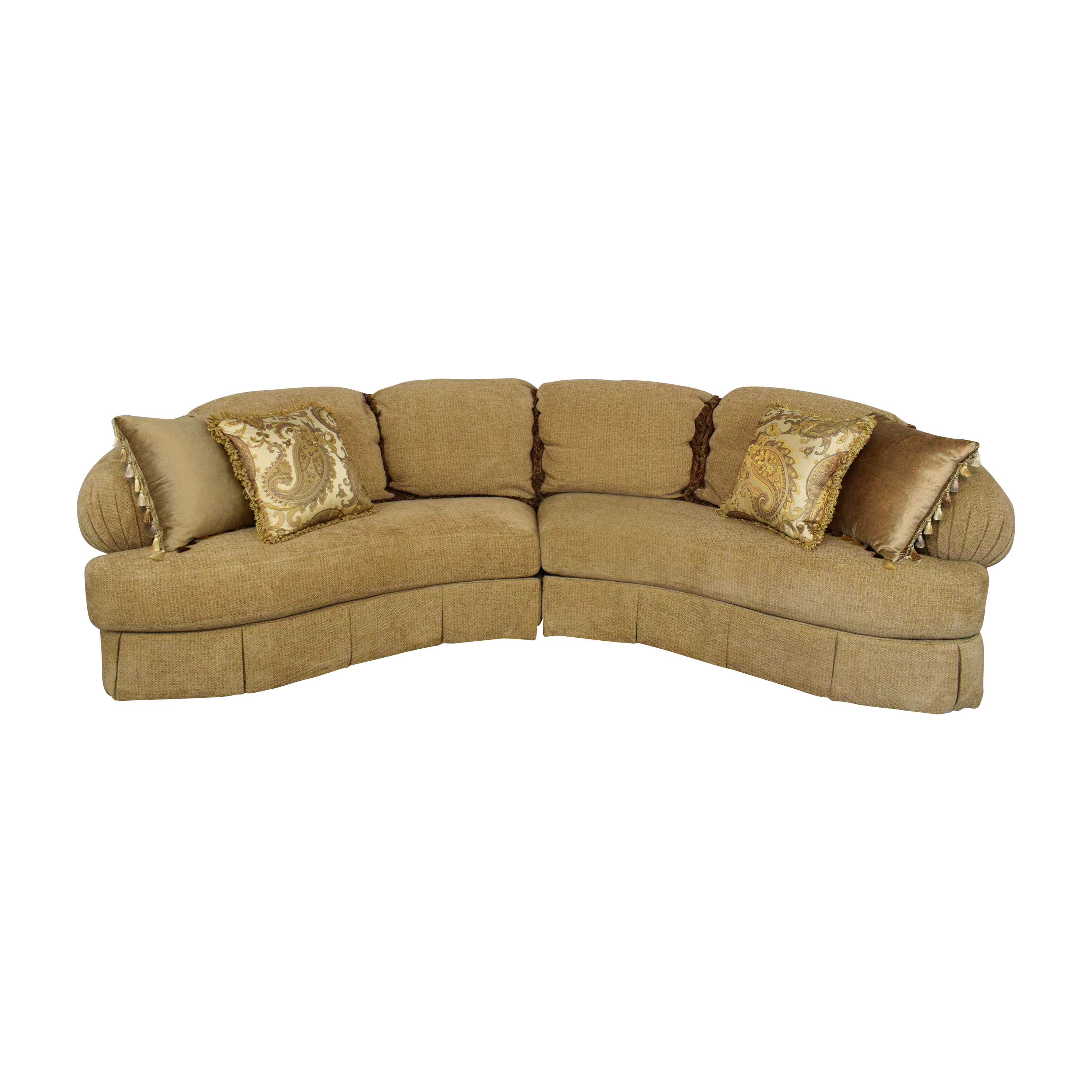 Ferguson Copeland Ferguson Copeland Curved Sectional Sofa Sectionals