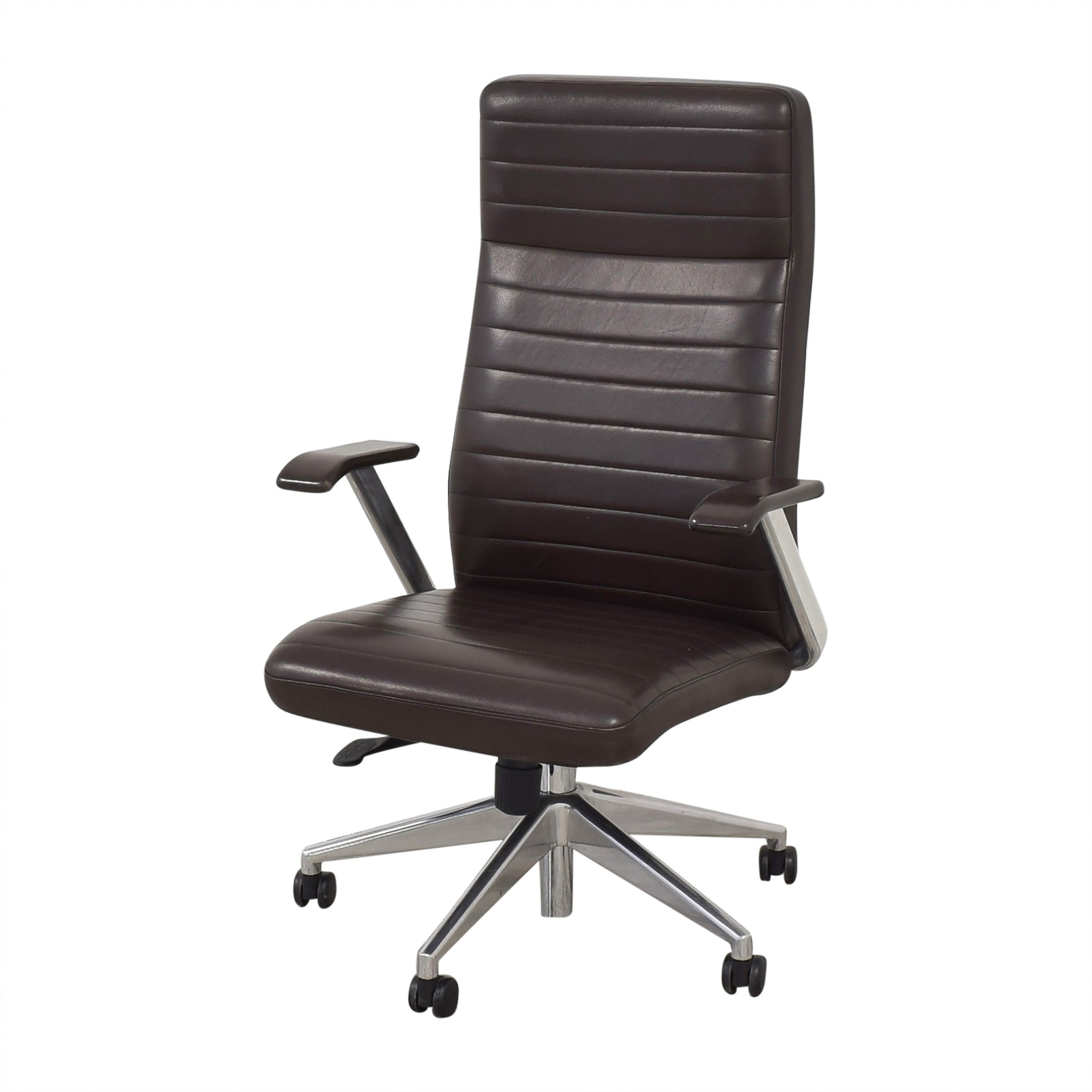 HBF HBF Mode High Back Channel Stitched Swivel Chair nj