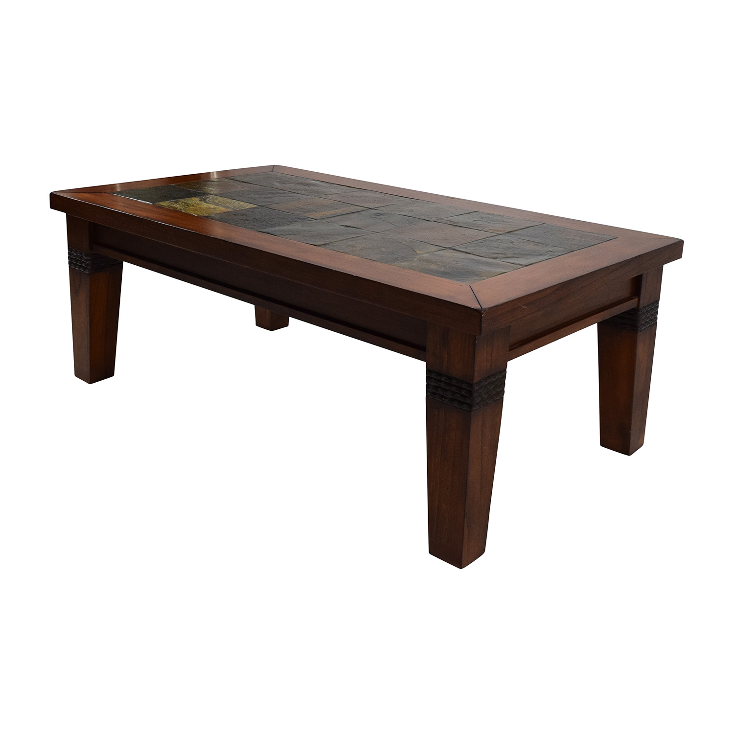 77% off - wooden & tiled coffee table / tables