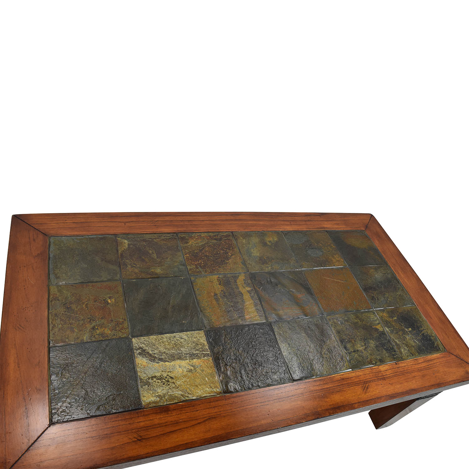 77 Off Wooden Amp Tiled Coffee Table Tables