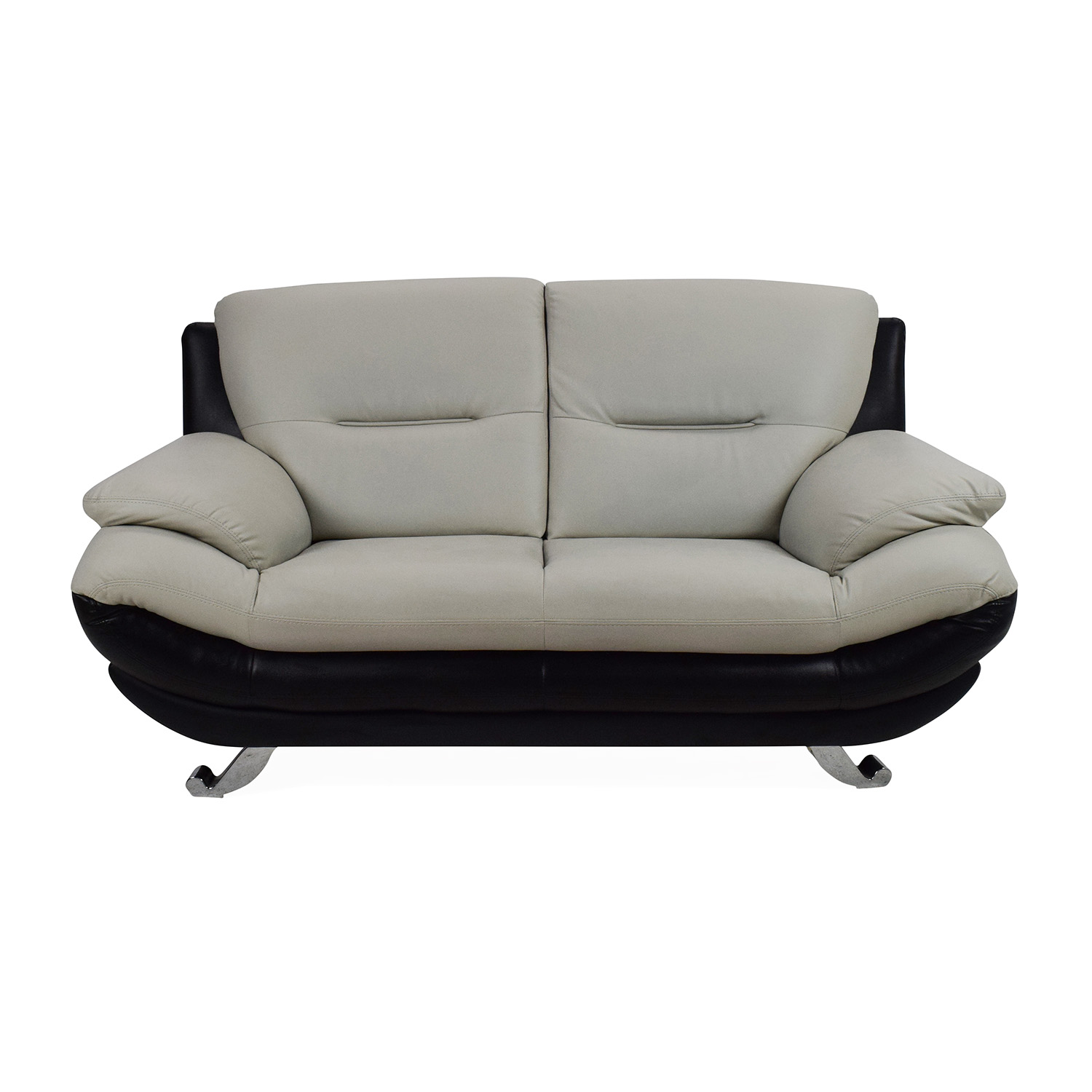 62% OFF - Modern Leather 2-Seater Couch / Sofas