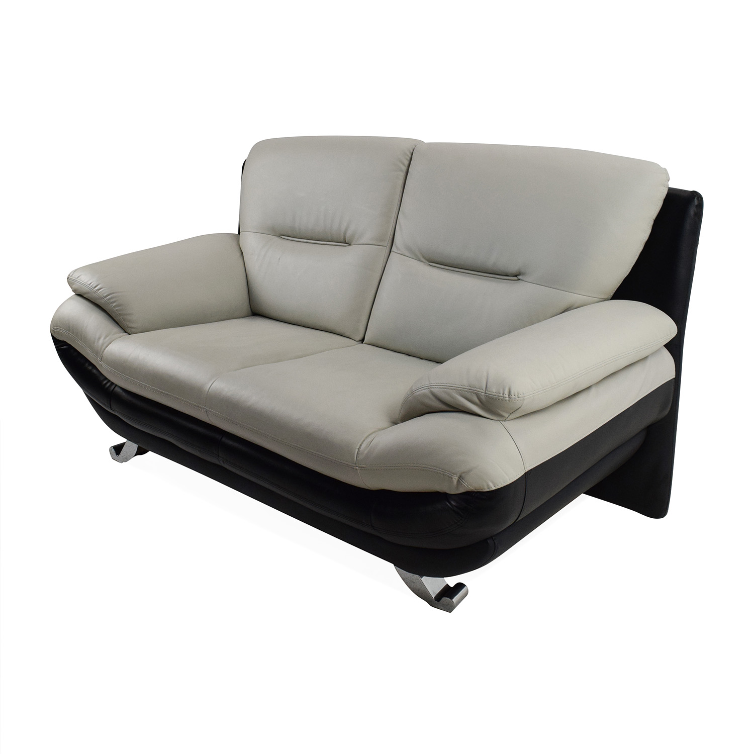 62% OFF Modern Leather 2 Seater Couch Sofas