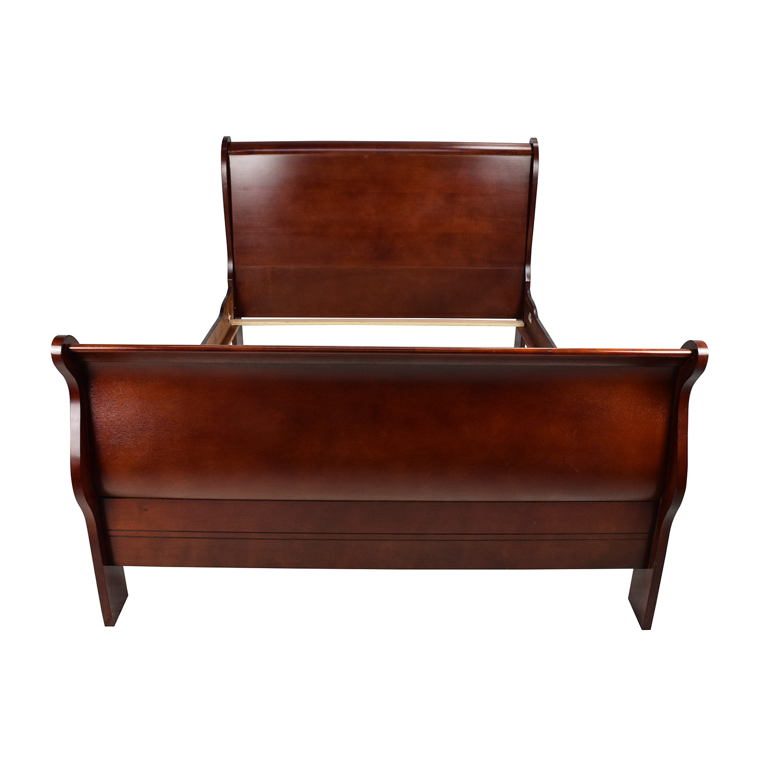 Cherry Wood Queen Sleigh Bed nyc
