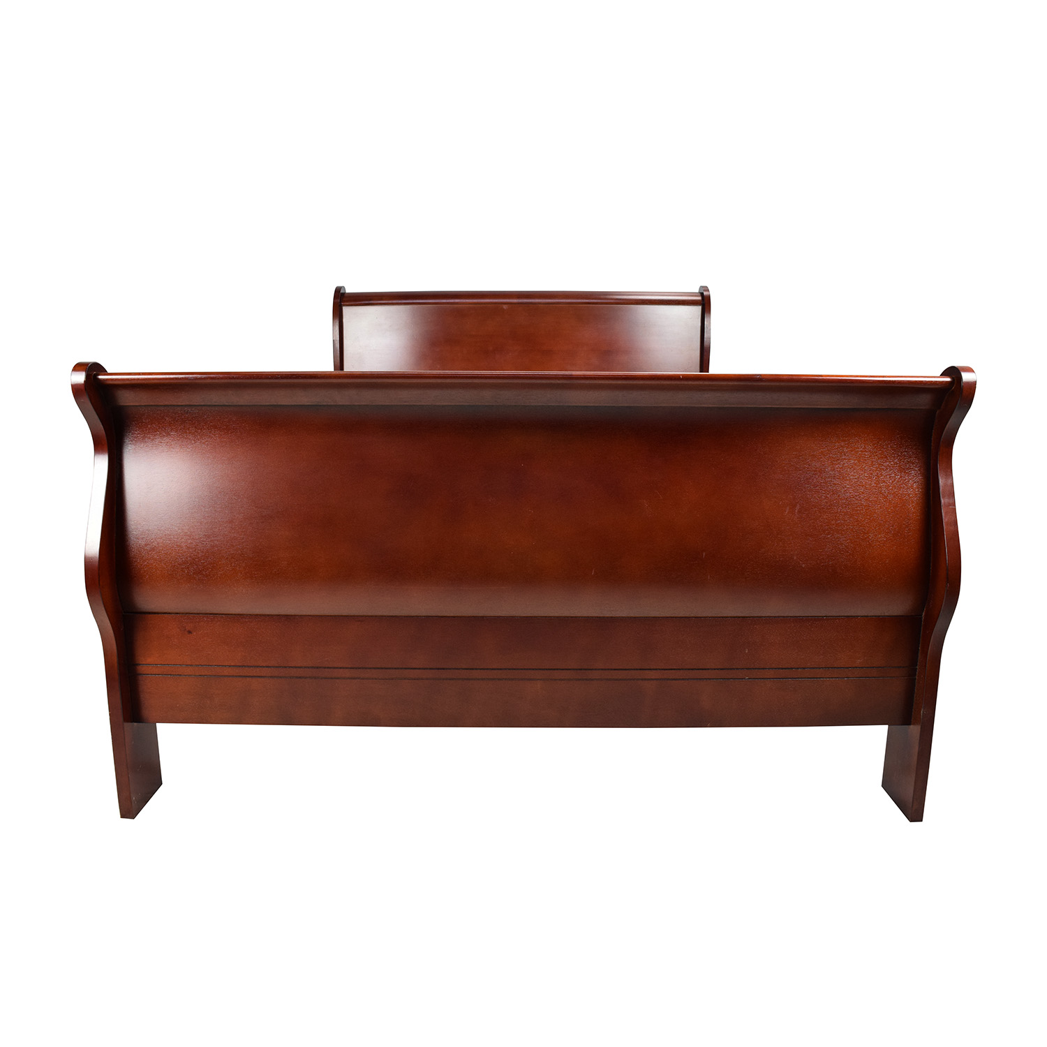 Cherry Wood Queen Sleigh Bed discount