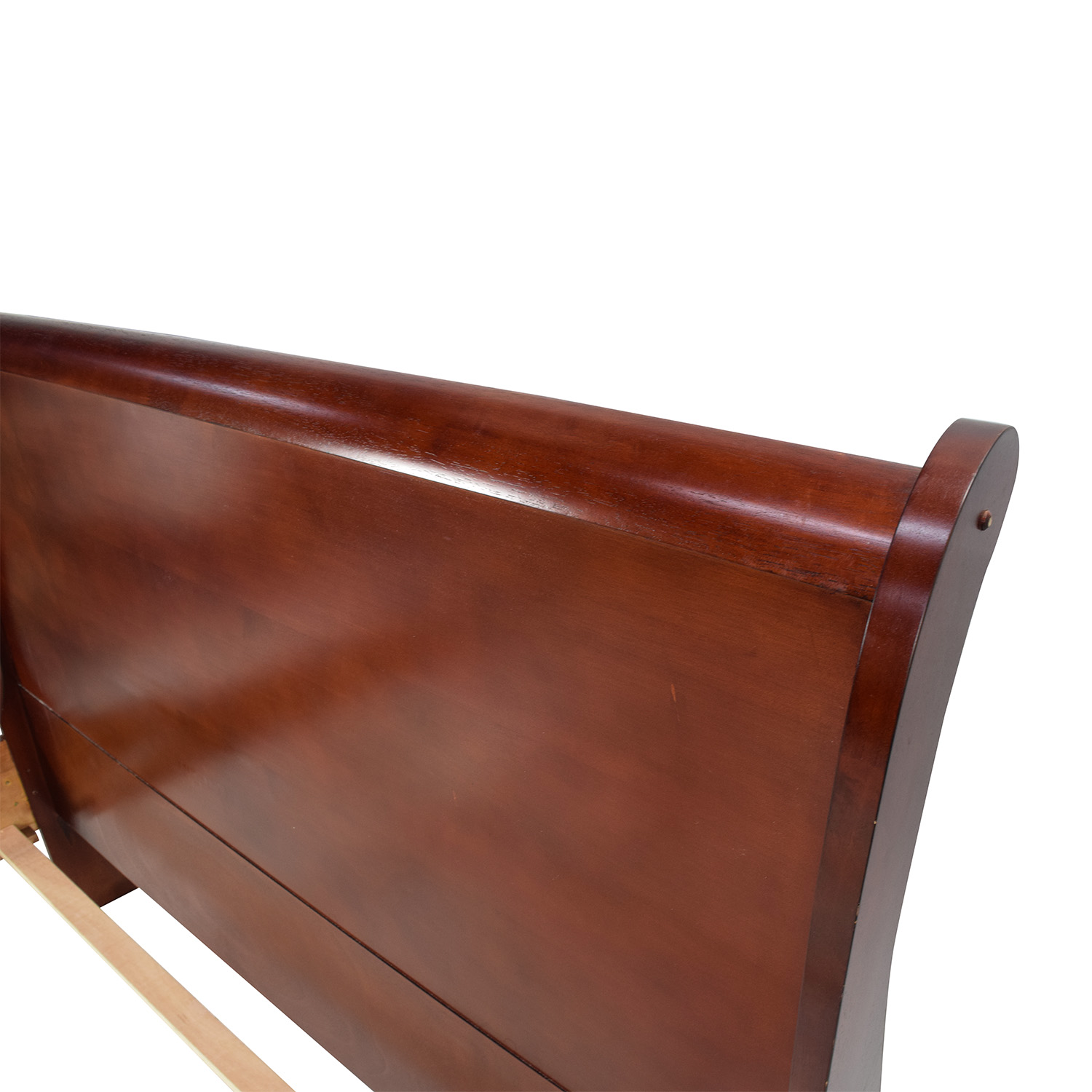 Cherry Wood Queen Sleigh Bed for sale